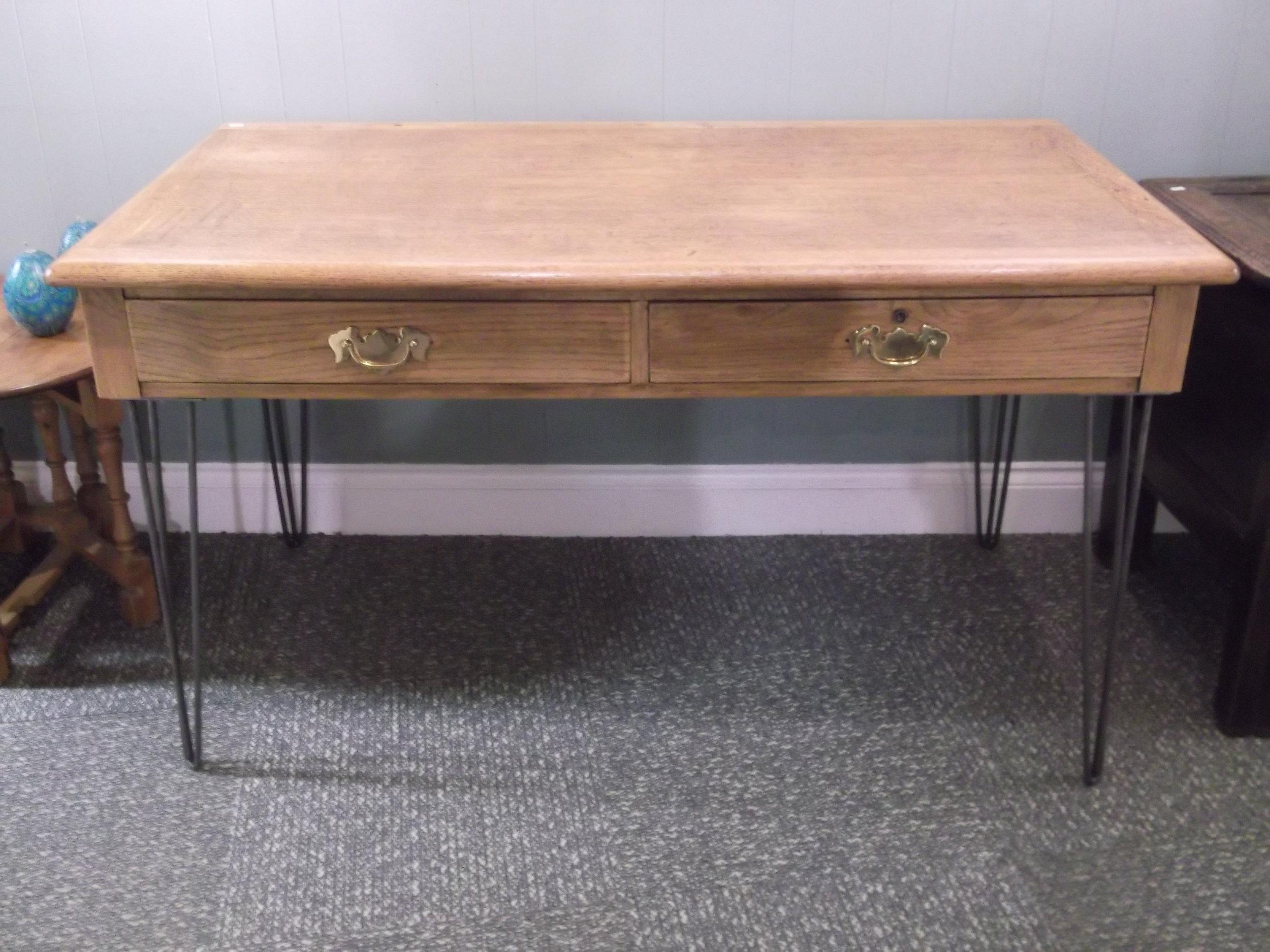 Hairpin leg desk. £170