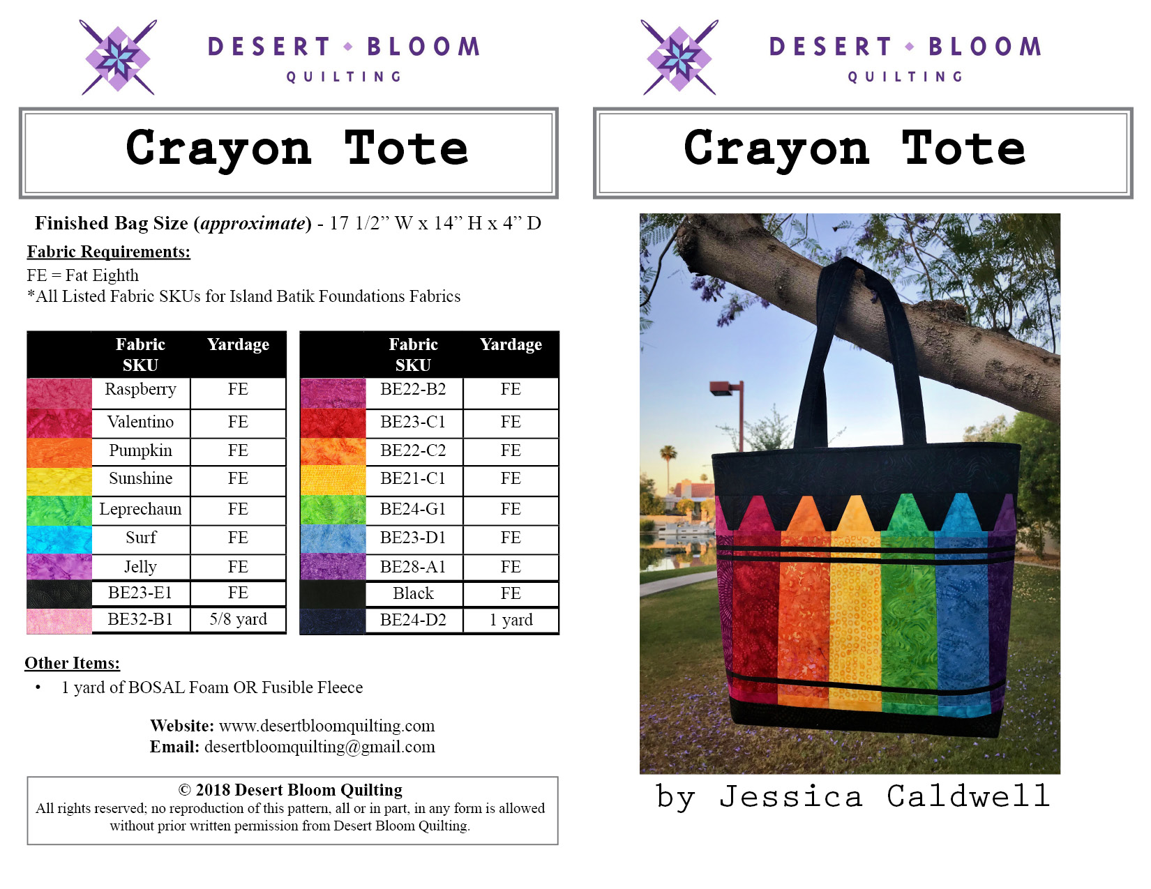 Crayon Tote Cover
