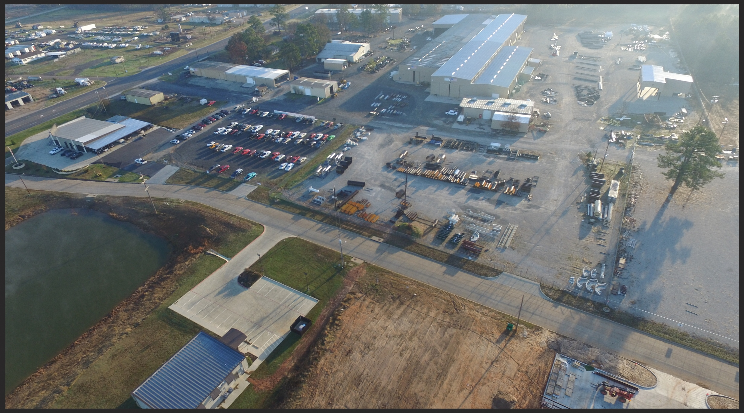 Aerial view of Energy Weldfab facilities in White Oak Texas