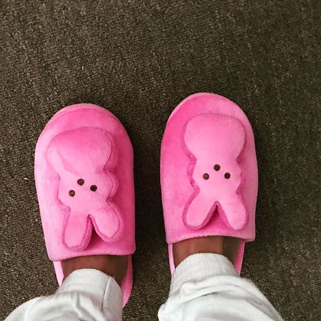YAAAAAS!! Tis Peep time!!! Love these marshmallow slippers!!! Do not not like the actual candy...Yuk!! #honeychildstyle #pinkingofyou