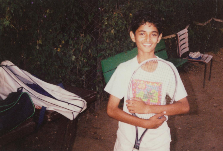 मी 1992 च्या सुमारास टेनिस कोर्टात