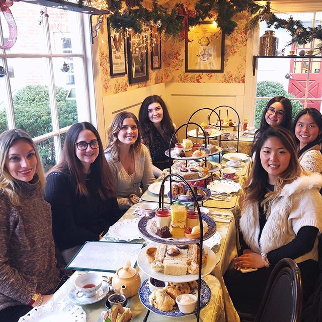 The team who has high tea together stays together! Thank you to this strong group of kind, hard working, and independent women! Another year together, another reason to celebrate. Couldn't do any of this without you! #loveyou #lucky #girlboss #girlpower #girlsquad #teatime #holidayparty #hightea #undeuxtroisstyle @robinsonstearoom