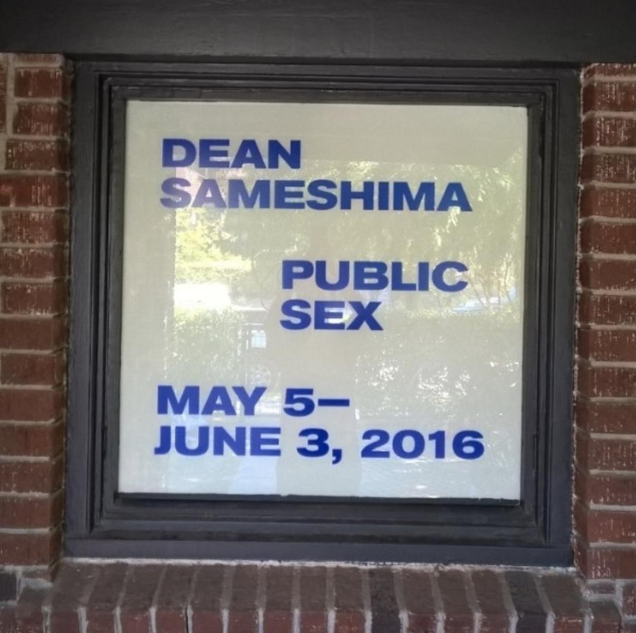 Dean Sameshima: Public Sex