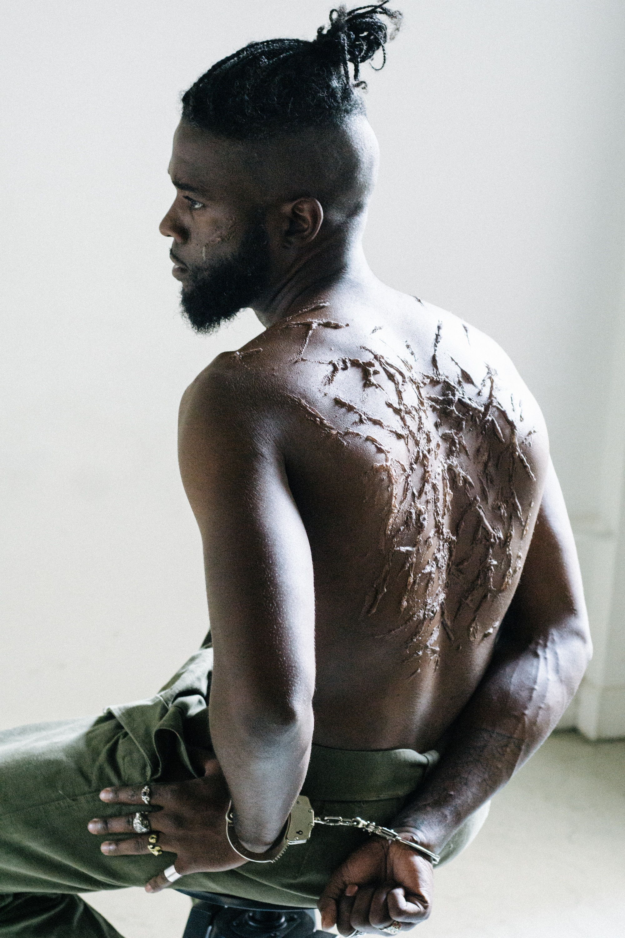 THE FADER     Photography    Worked with frequent collaborator visual artist    Gianni Lee    to create several images as artistic commentary on the connection between slavery and the prison system
