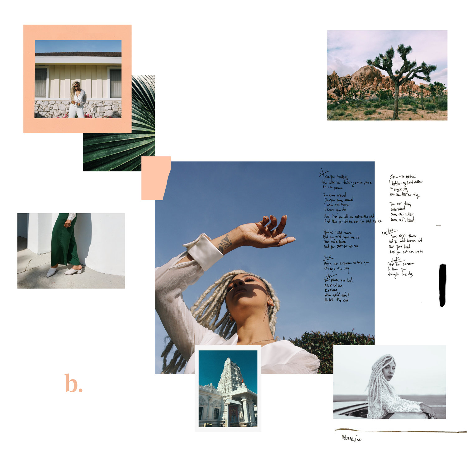 """Bosco """"B"""" Album Cover + Digital Release     Creative Direction + Photography   Collaborated with recording artist Bosco to create Album cover and digital scrapbook for the release of her album   """"B"""""""