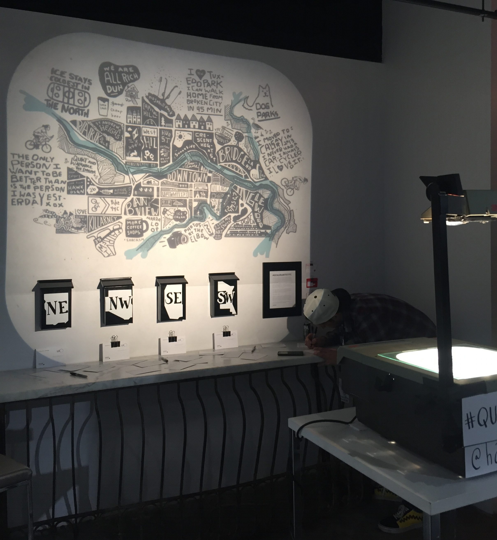 QuadrantsYYC projection in week 2 of BIG Studio, Gerry Thomas Gallery | Calgary AB