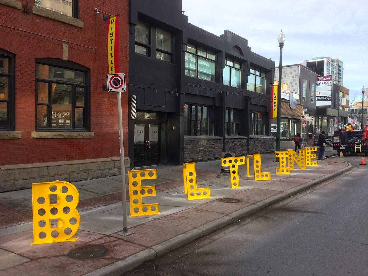 BELTLINE bike rack | 11 Ave & 5 ST SW • Calgary AB • Designed in collaboration with  Clarke Studio.