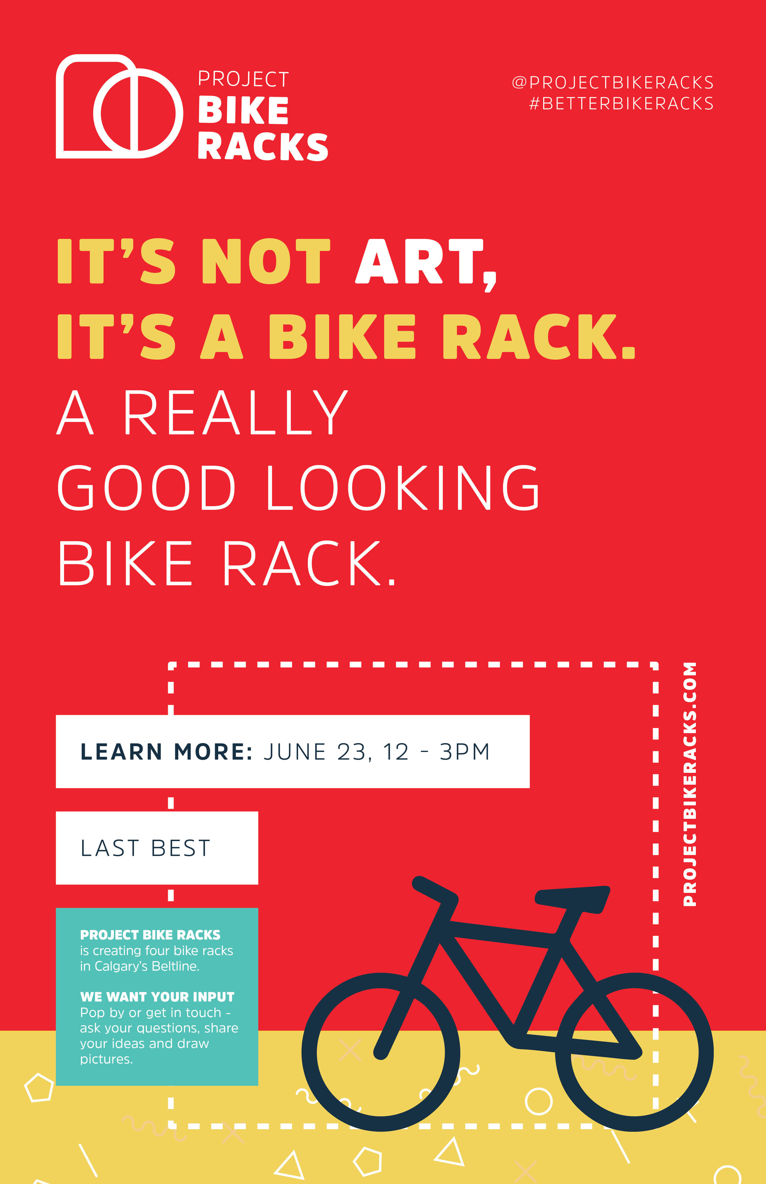Project Bike Racks early poster design
