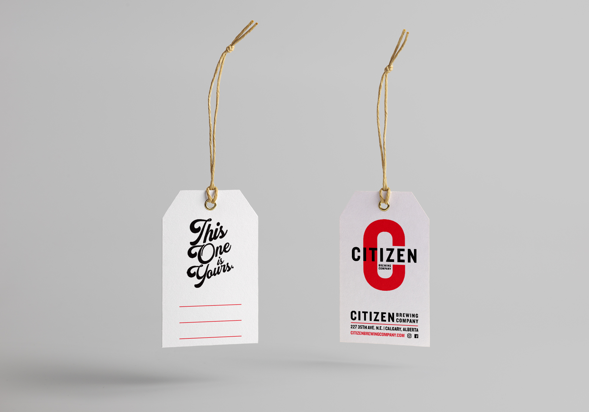 Growler Tag design for Citizen Brewing Company