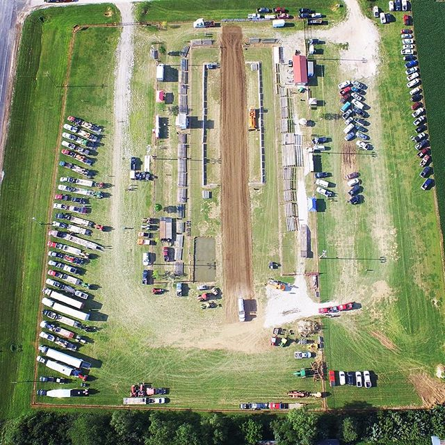 Check out some of these awesome aerial photos of last night's NK Puller Tractor & Truck Pull. Photo by Dave Schreiner.