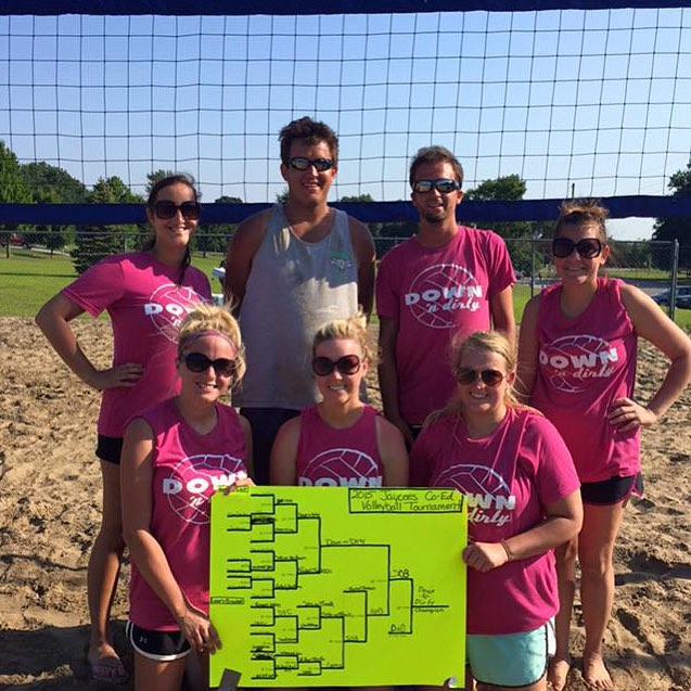 Congratulations to the Inaugural Champions of the Falls City Area Jaycees Sand Volleyball League. Down & Dirty fought the heat and some tough competition to add tournament championship to a resume that already included winning the Season Standings.  Not pictured: Thomas Gist & Casey Witt