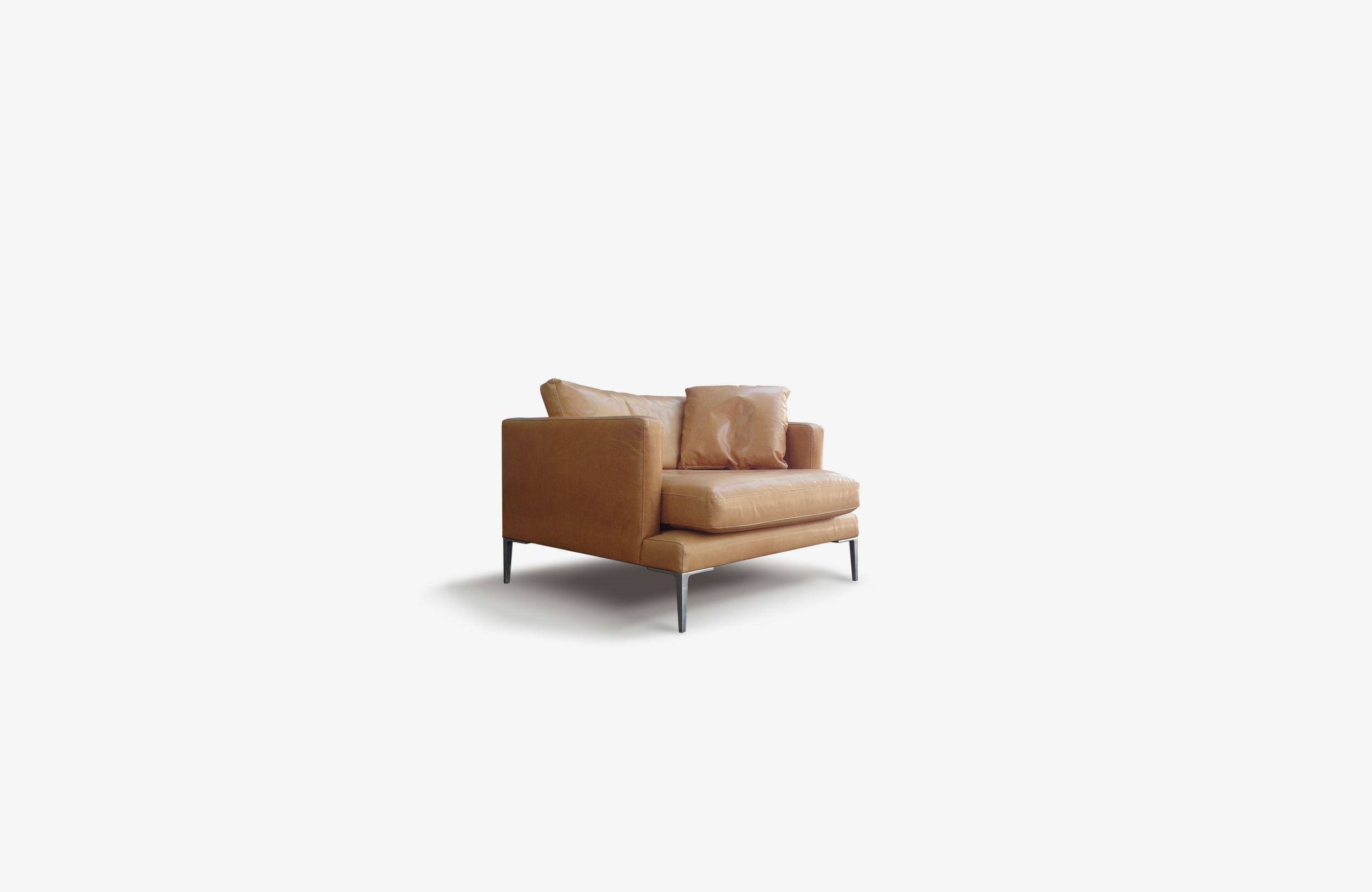 Lennon sofa   With its deep and comfortable seating, the Lennon invites you to relax.   It offers a well-engineered design that appears to float on elegant brushed aluminium or powder coated legs, functional yet stylish.   Great for: Stylish, modern family home.   Technical information