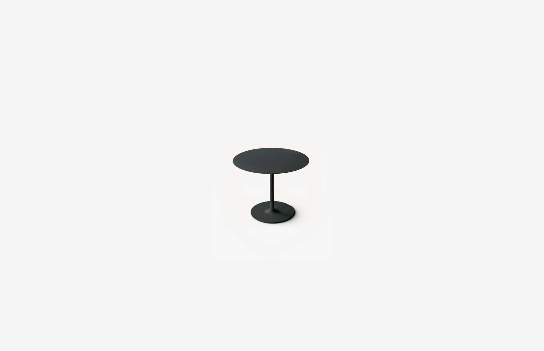 Leo table    Spun steel base with a top of your choice, Steel / oak / Ash