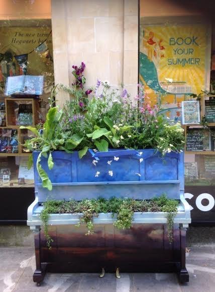 Cheltenham was full of decorated pianos!