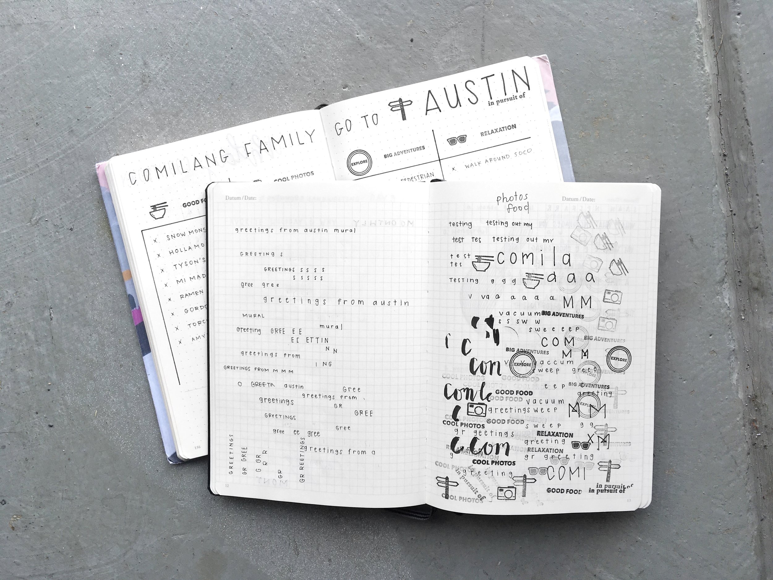 PRACTICE JOURNAL FOR A SPREAD