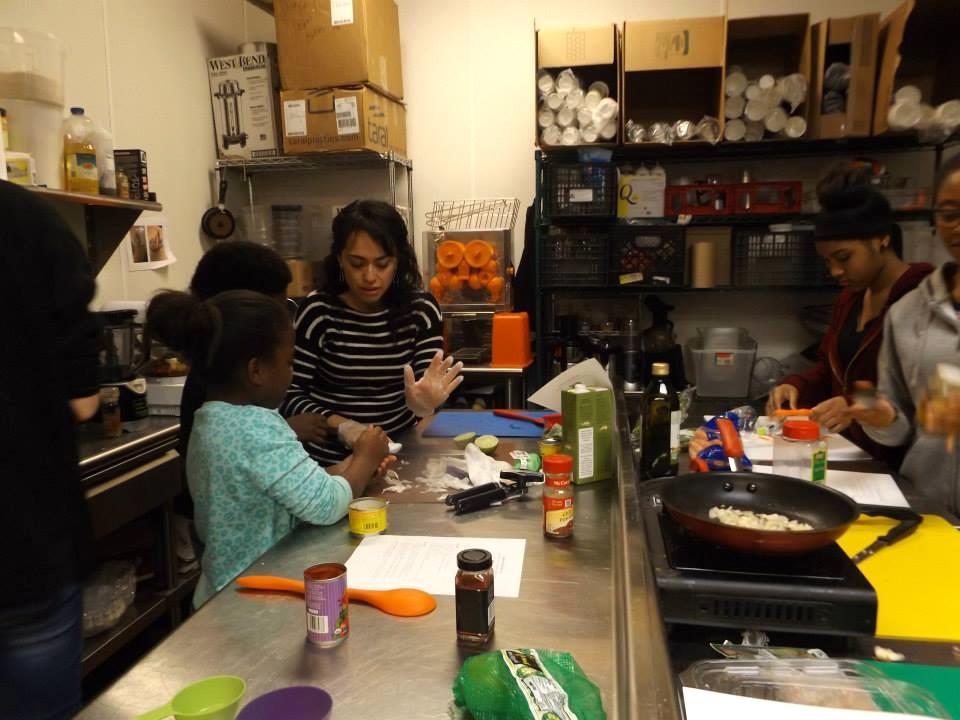 Teen Chef Network cooking class