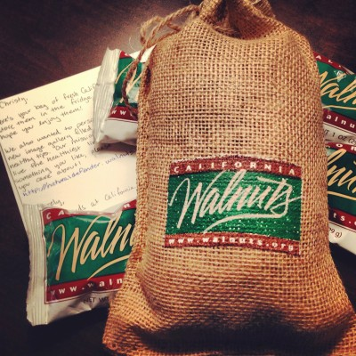 Thank you California Walnuts for donating this sample of walnuts I used in my recipe!