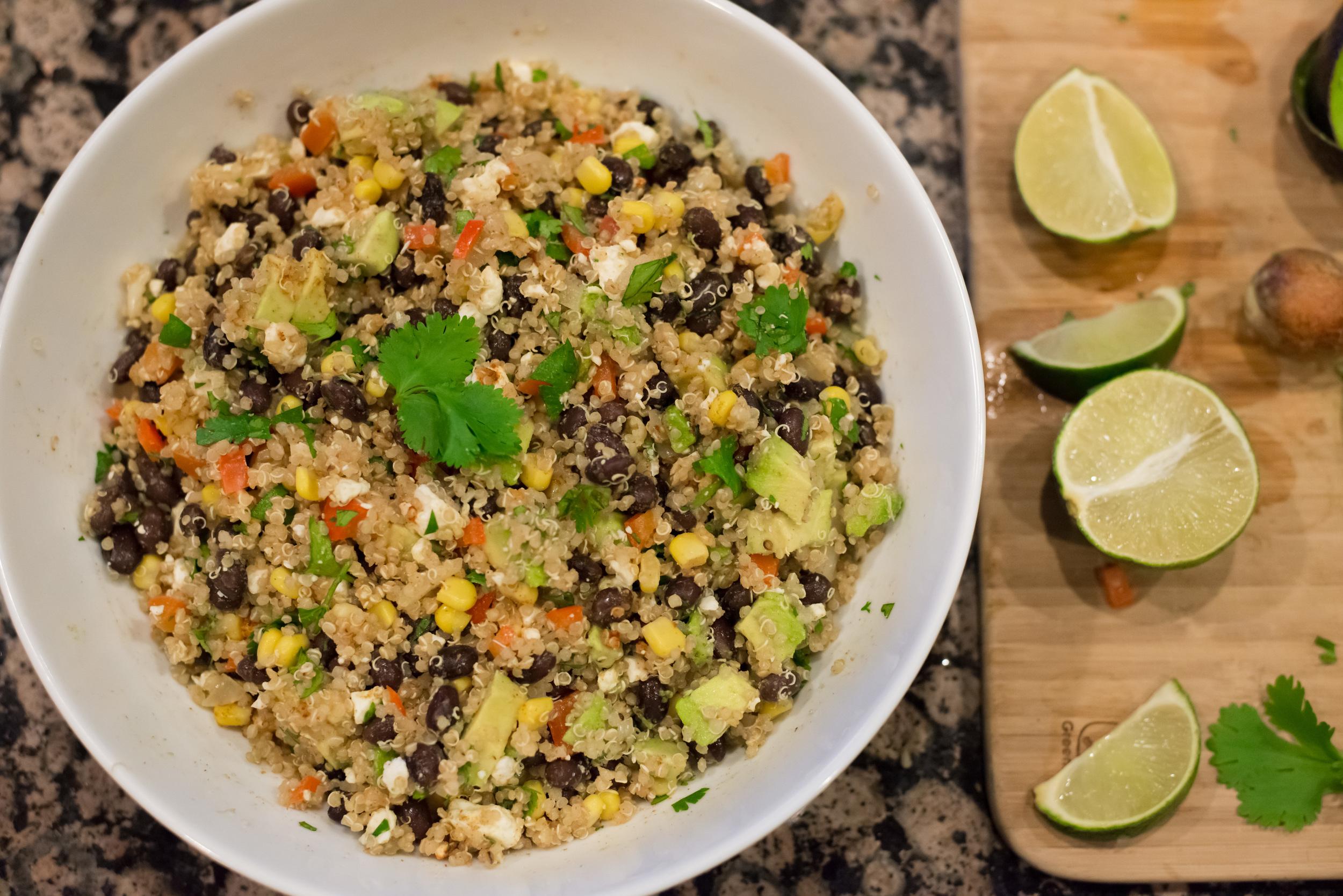 Black Bean Quinoa with Cilantro, Lime & Feta