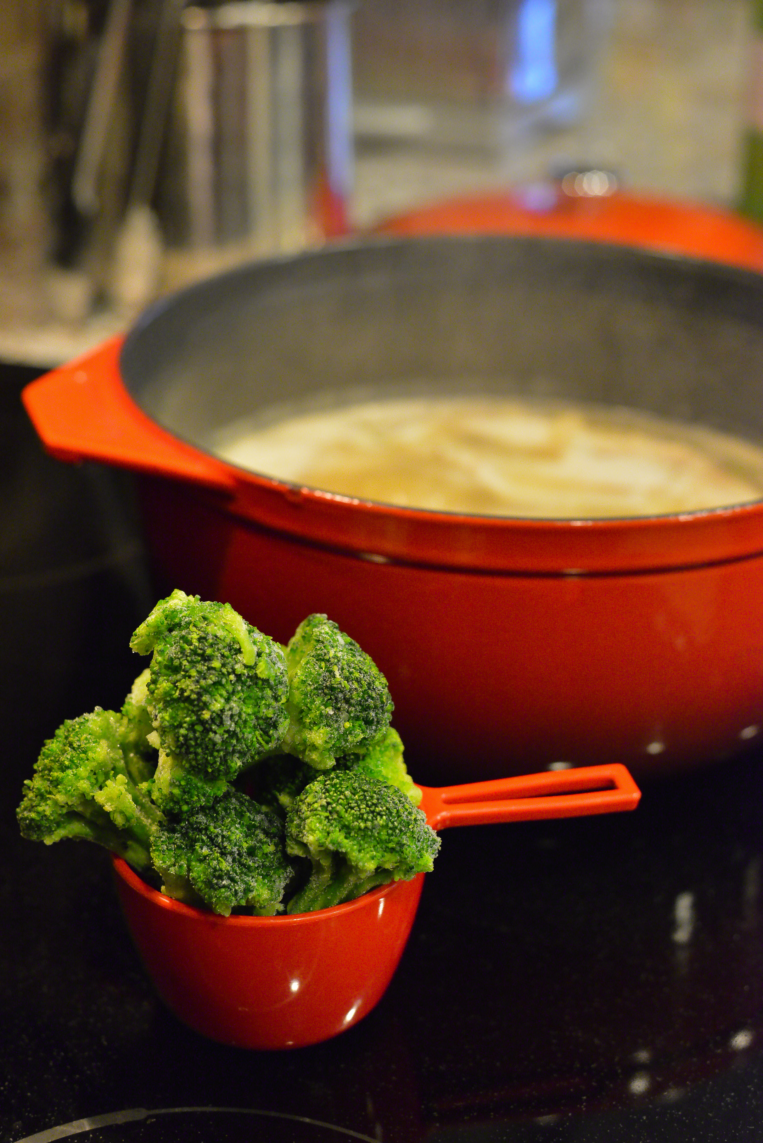 I often use frozen organic broccoli because I usually have a big bag in my freezer. Fresh and frozen varieties are equally nutritious and both work exceptionally well in this dish. If you have fresh, use that! Use what you have on-hand.