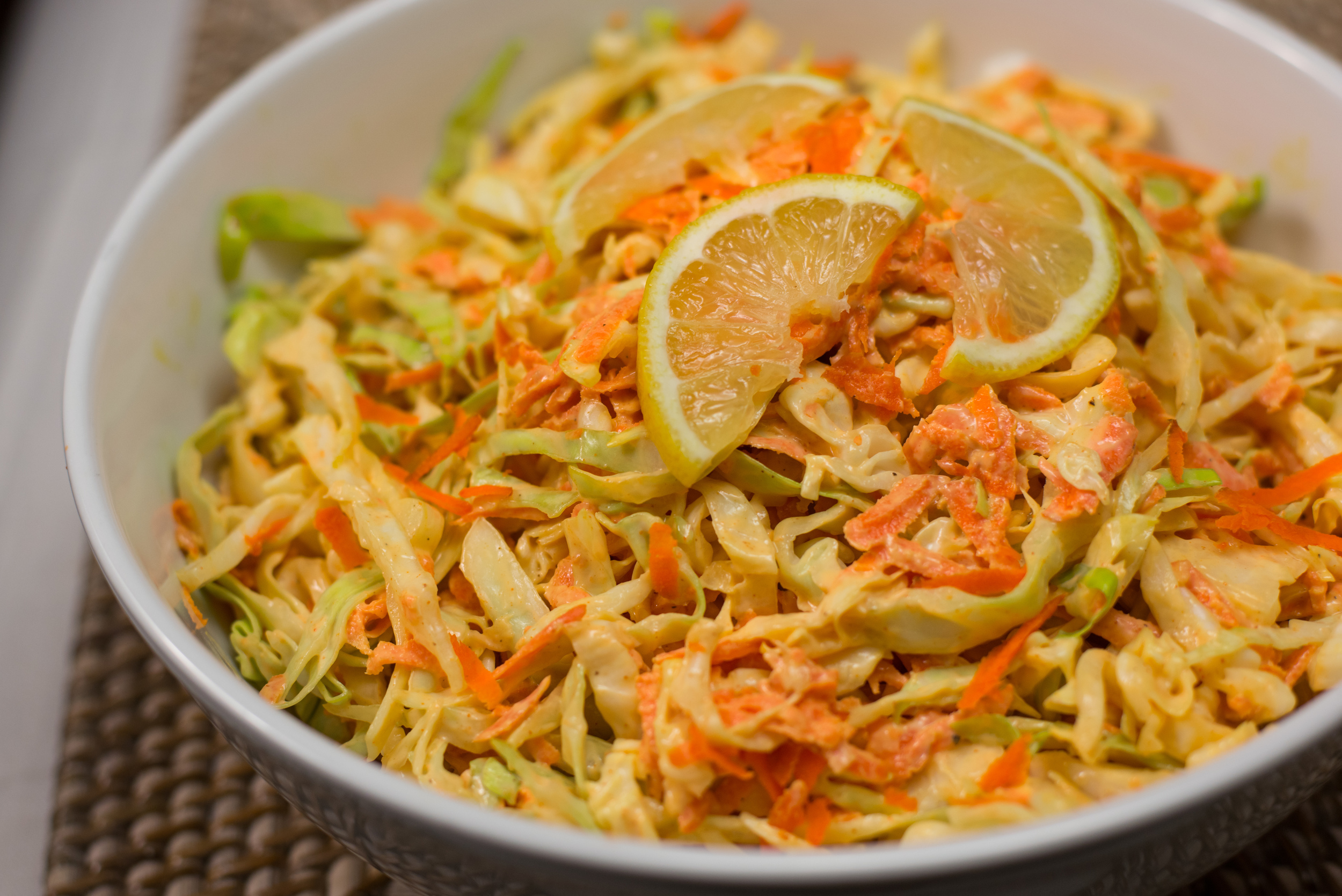 Tangy Coleslaw with Ma-Yo Dressing