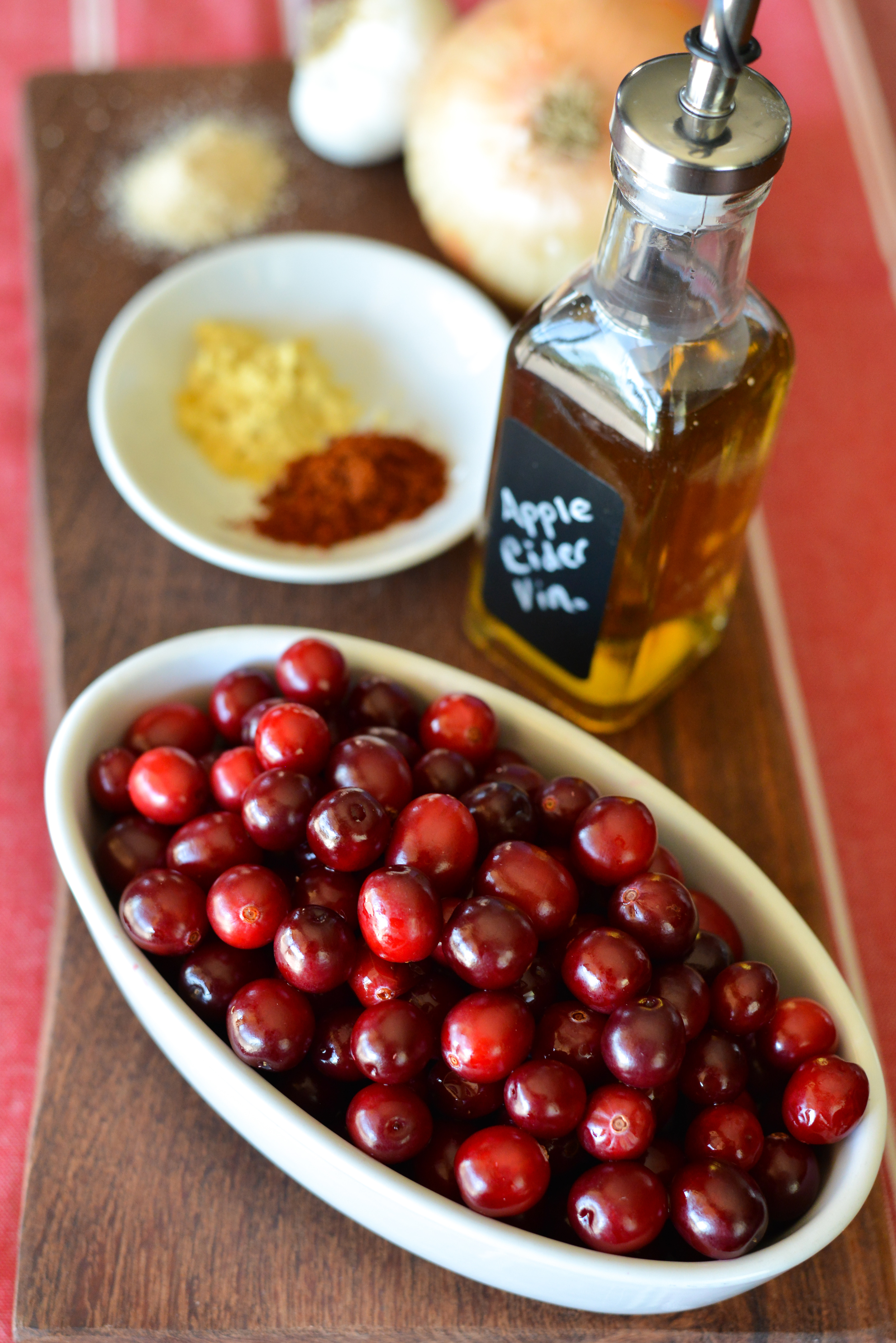 Cranberry BBQ Sauce ingredients