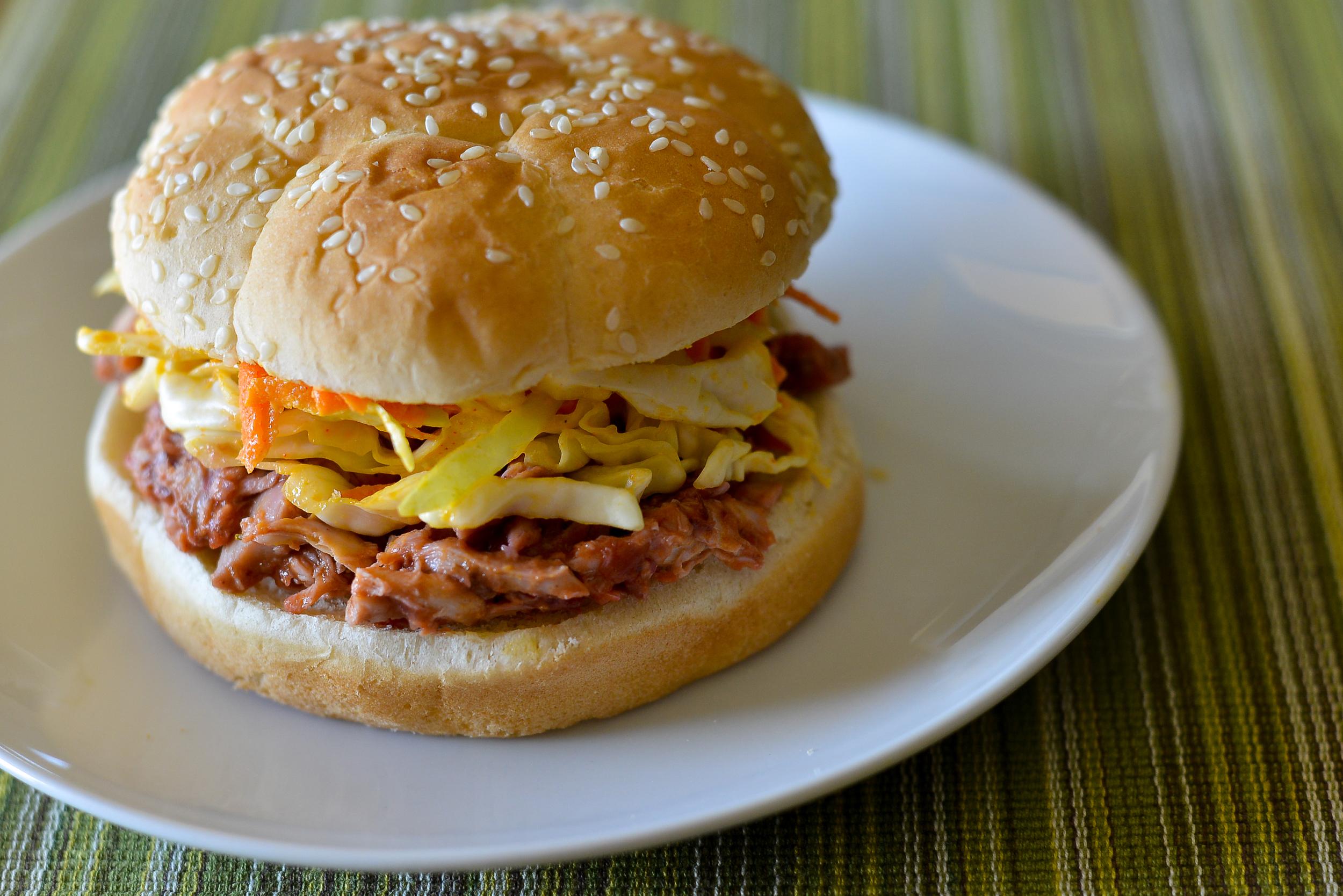 Cranberry BBQ Chicken Sandwich plated