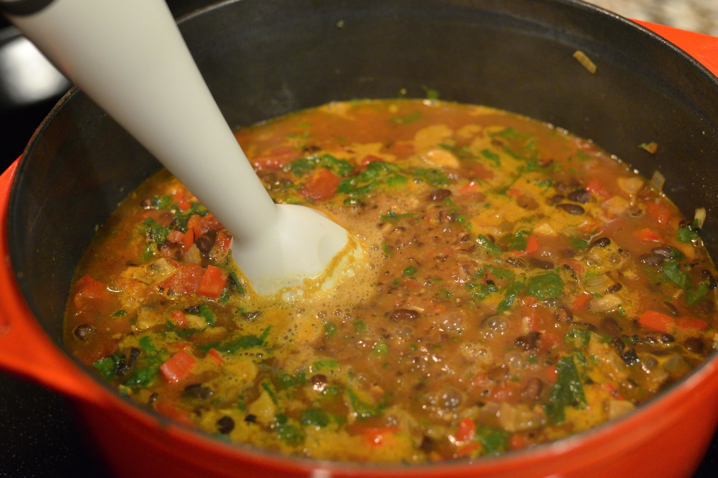 Immersion blenders are a convenient and safeway to puree hot foods right in the pot.