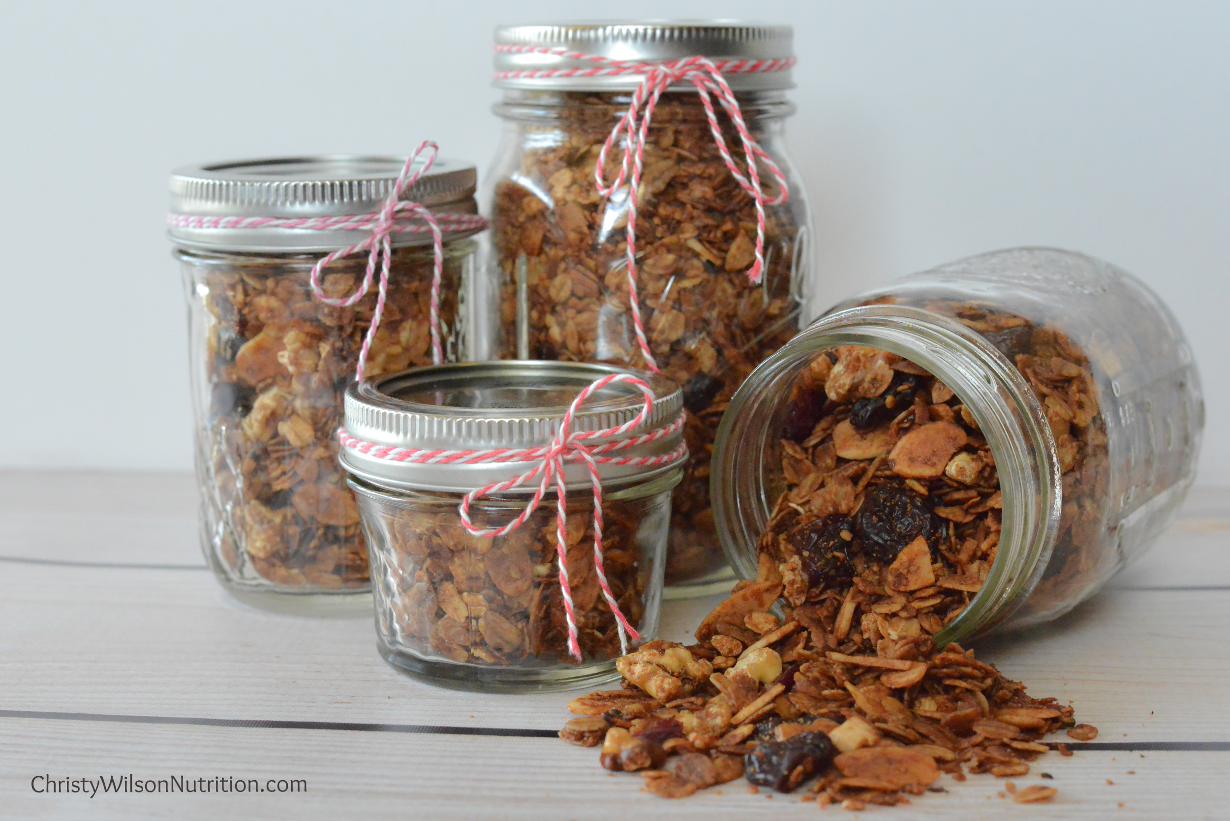 Gifting homemade granola makes a beautiful and delicious gift (just ask my parents!).