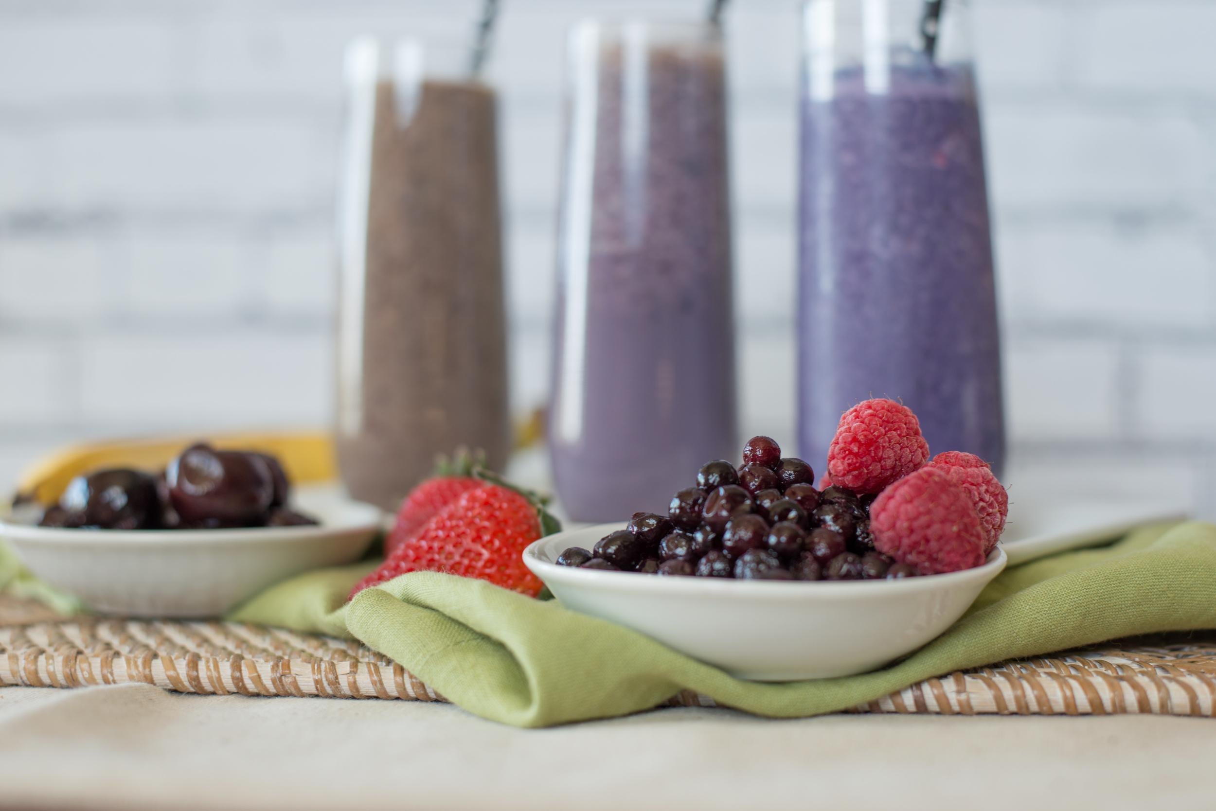 Fruit and Kura smoothies