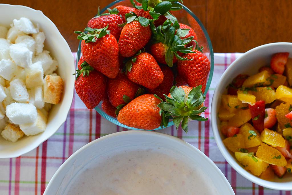 Fresh ingredients for dessert