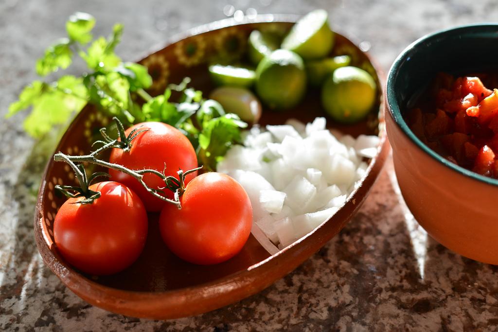 Beautiful, fresh foods go into this classic salsa recipe.