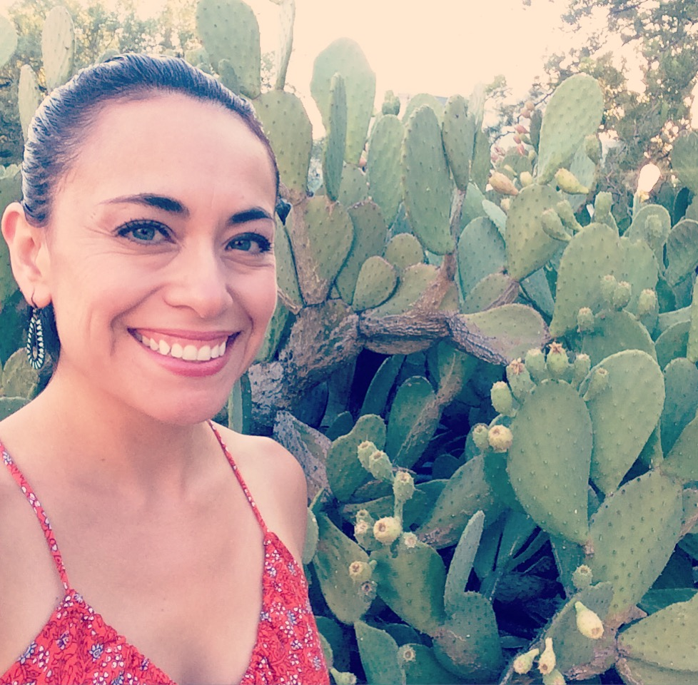 Me among the prickly pear cactus
