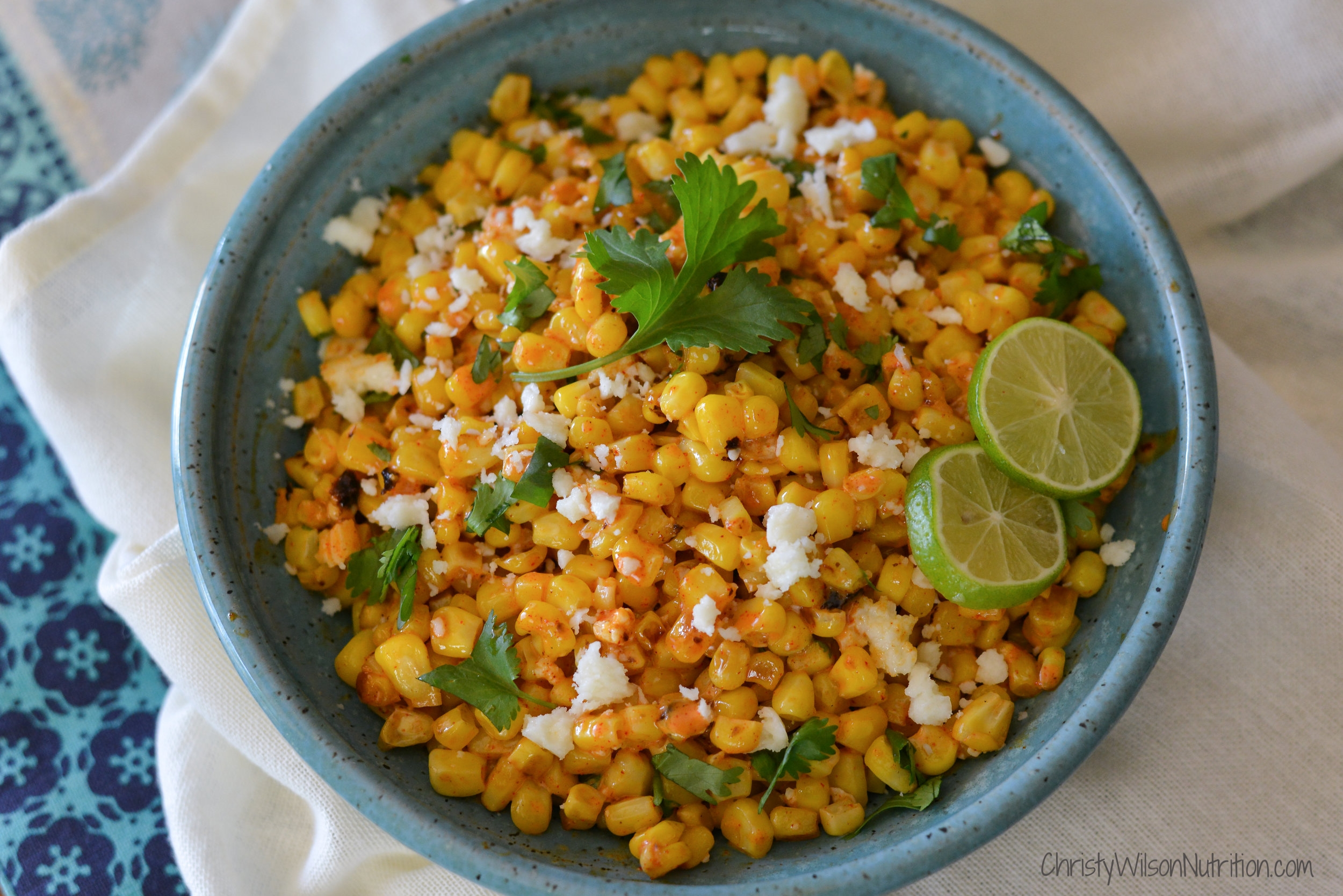 Mexican Skillet Street Corn plated