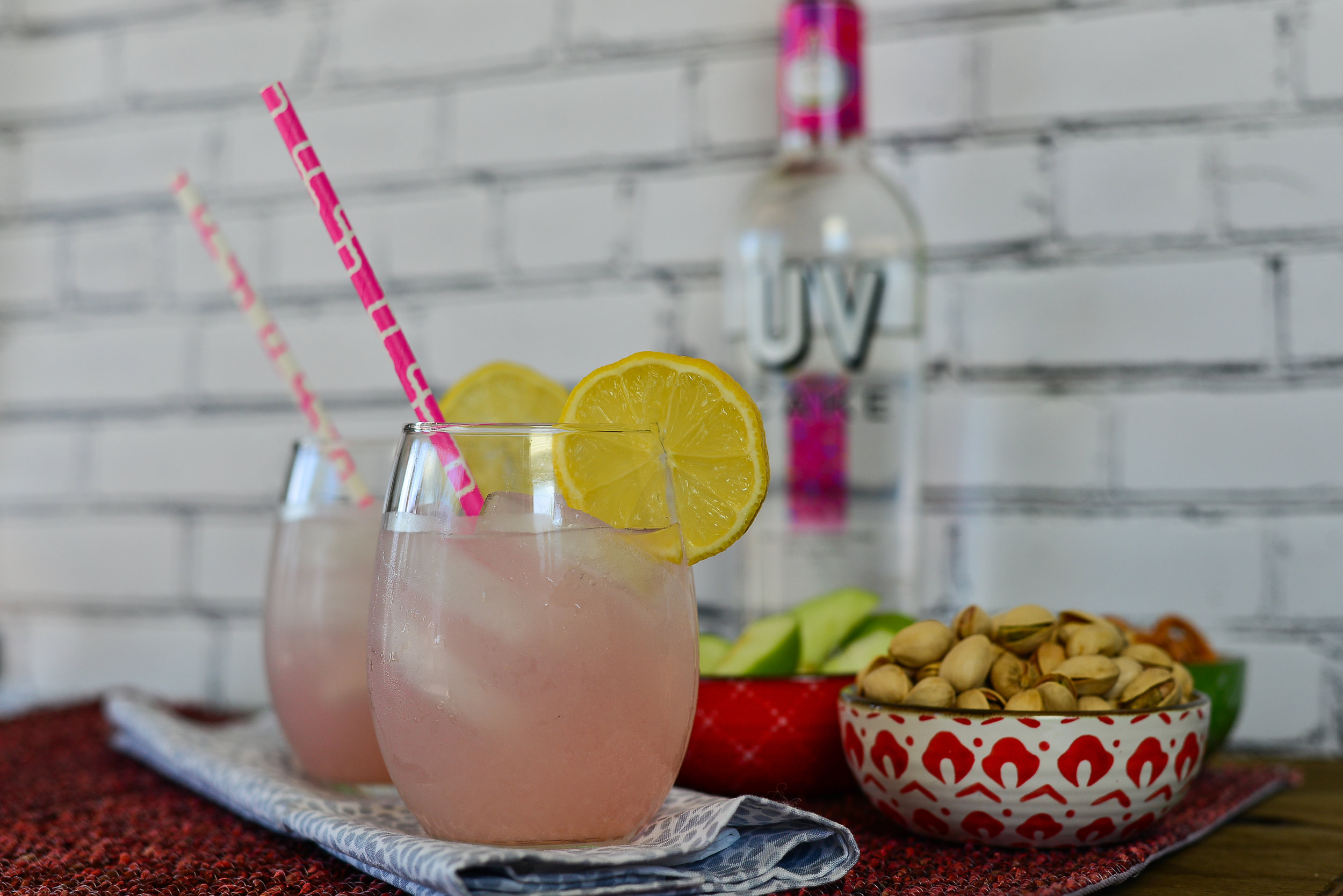 Boozy Pink Lemonade: for the punch-loving game watcher.