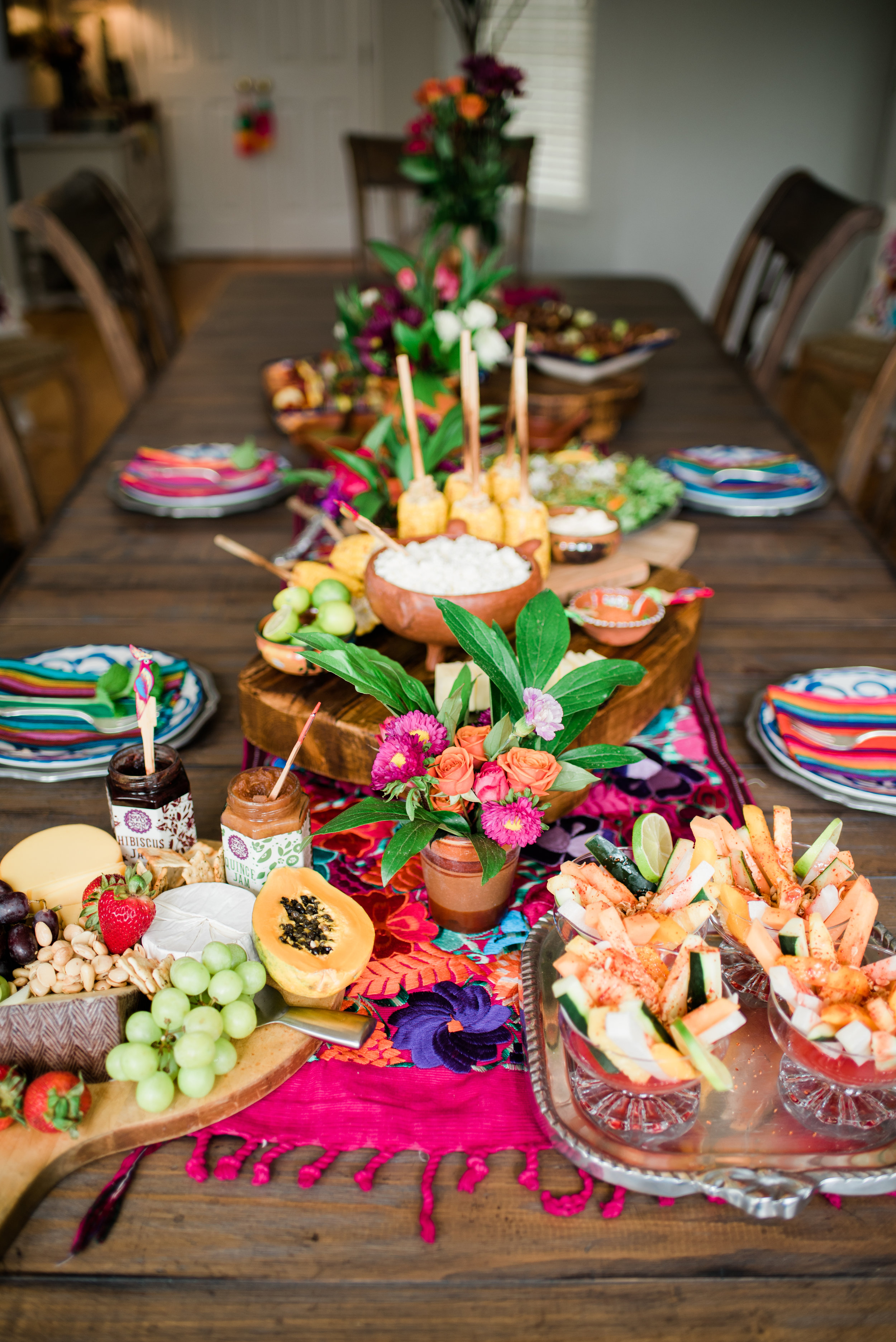 The food. The colors. The most beautiful table and spread I've ever seen!