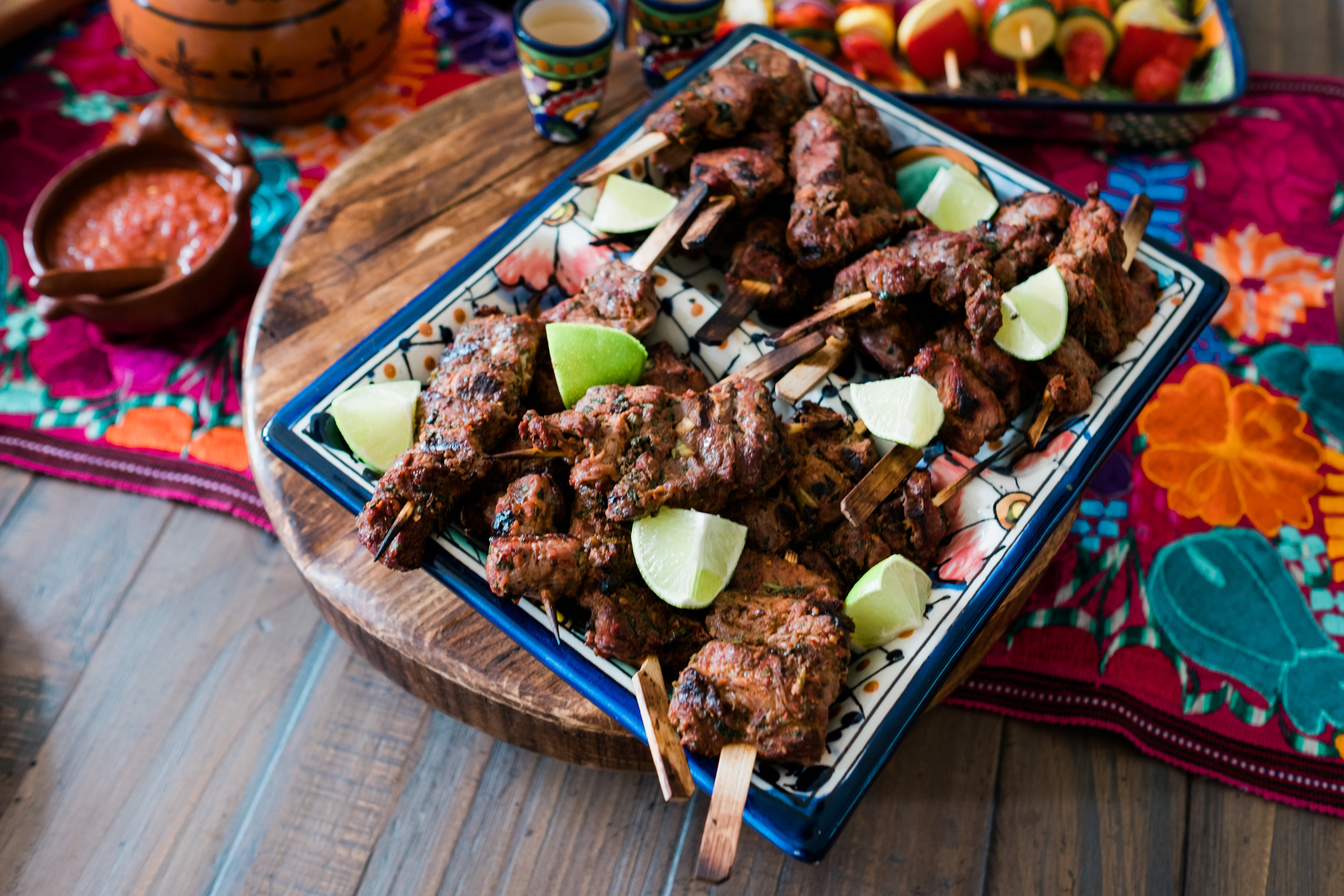 Yvette's Tequila Lime Carne Asada Skewers were so tender and delicious! See the caption below Yvette's photo for this amazing recipe.