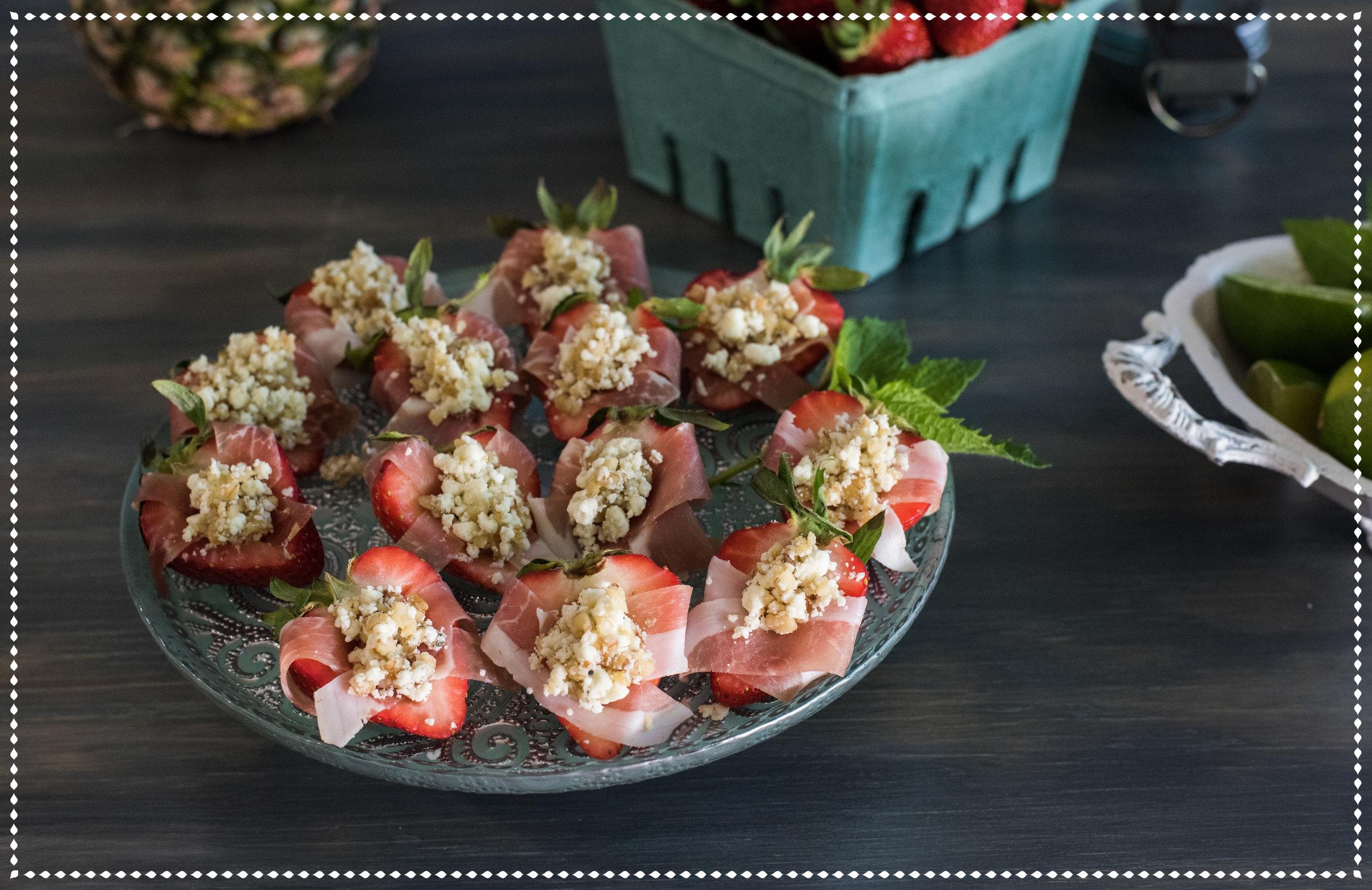 Blue Cheese Stuffed Strawberries