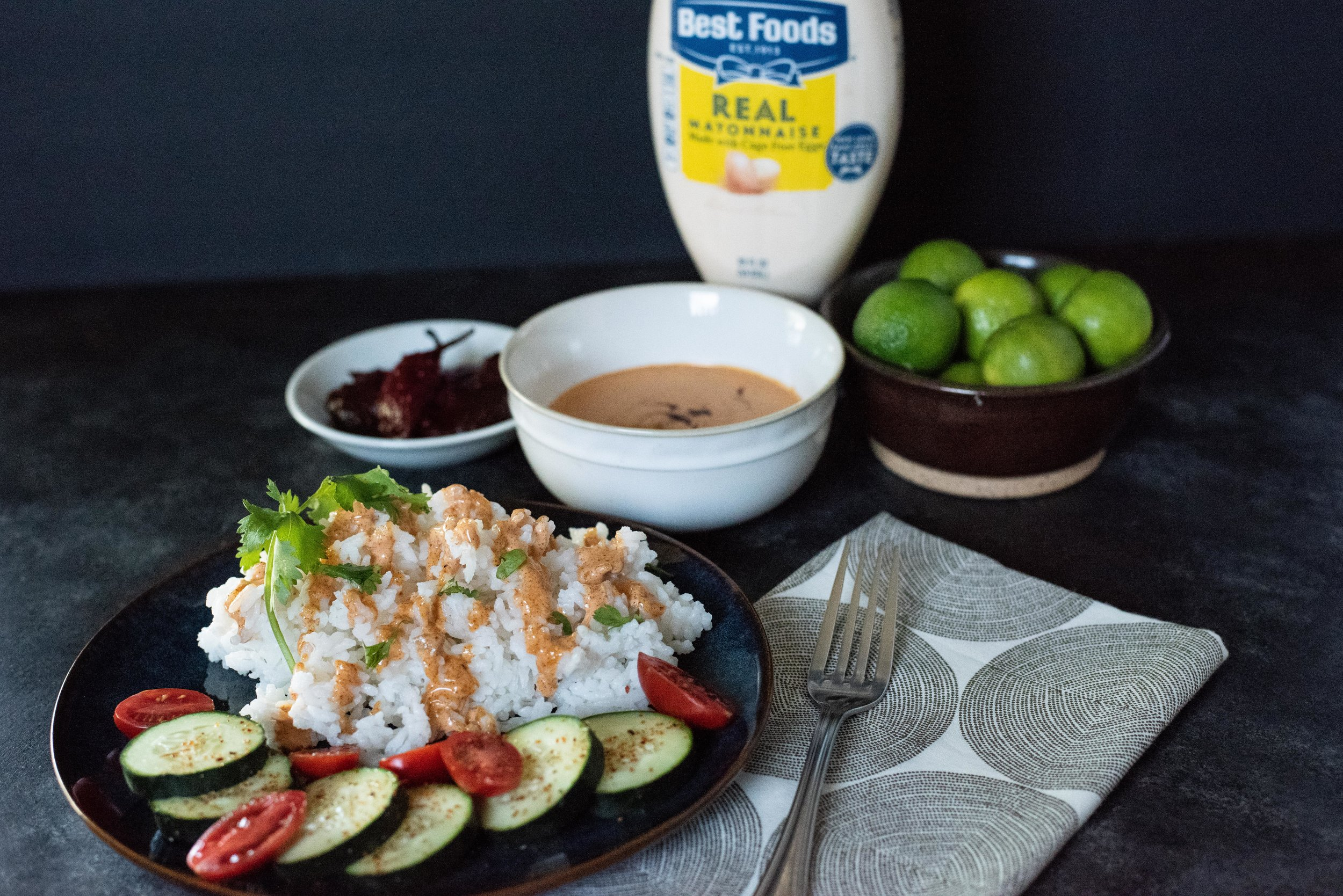 Drizzle this chipotle chili mayo on rice, vegetables or any grilled meats or fish.