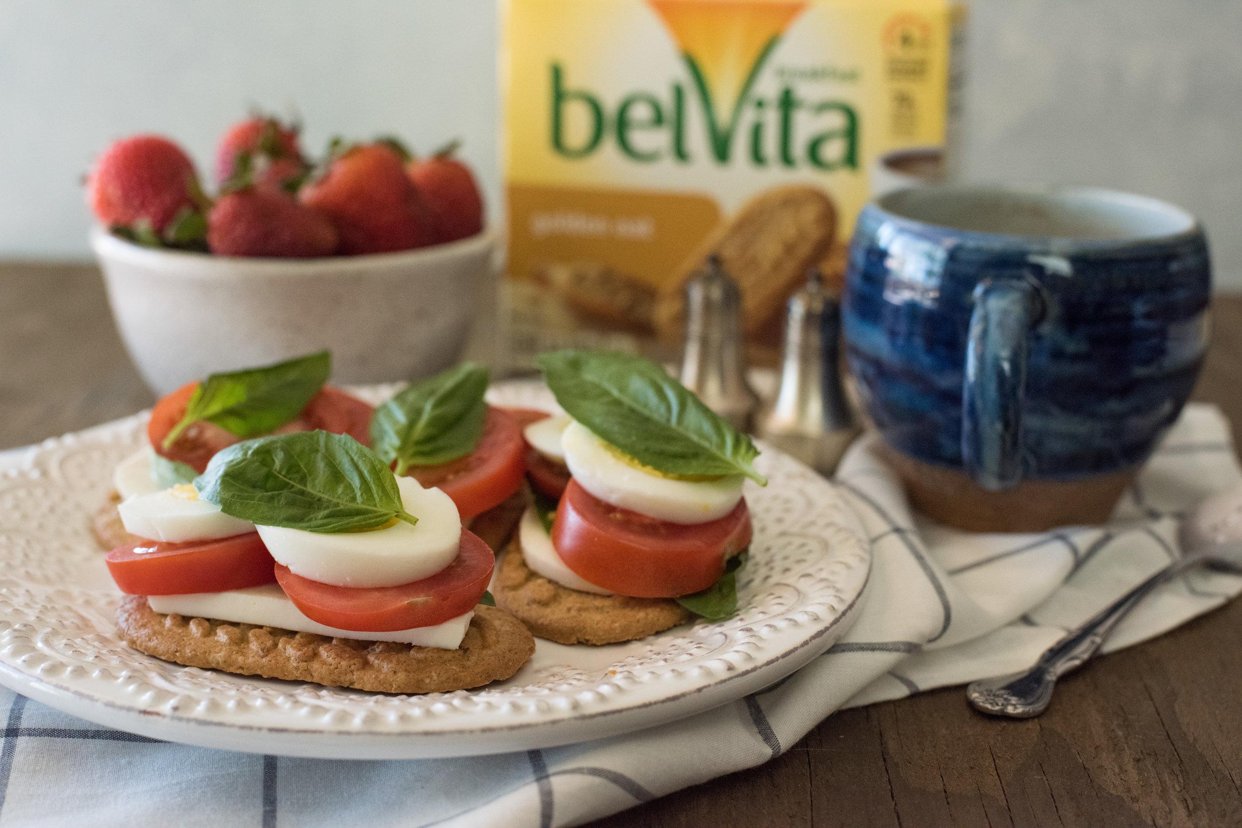 Breakfast stacks with belVita