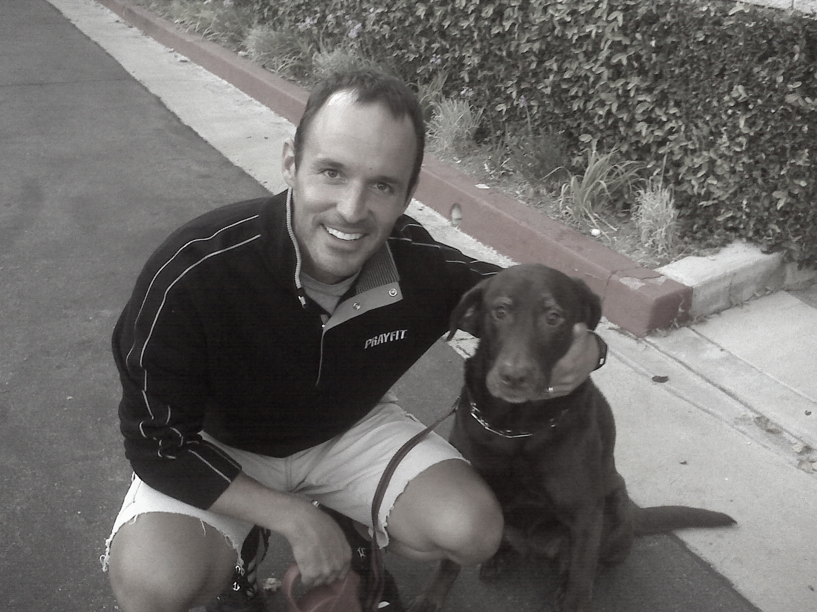 Ms. Josey Wales and her daddy after walk