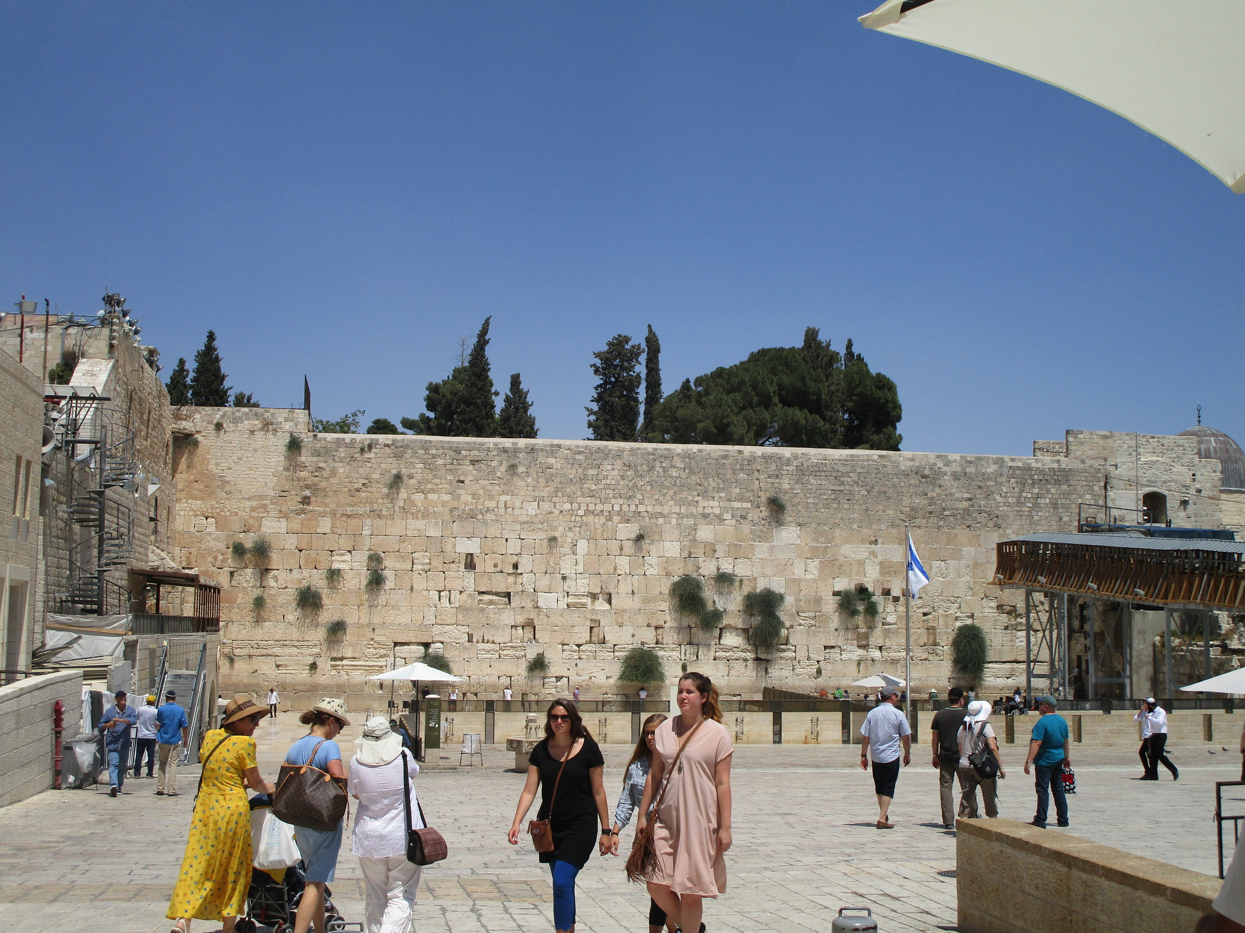 "Traditionally known as the Wailing Wall. (Currently, this is called ""The Western Wall"".)"