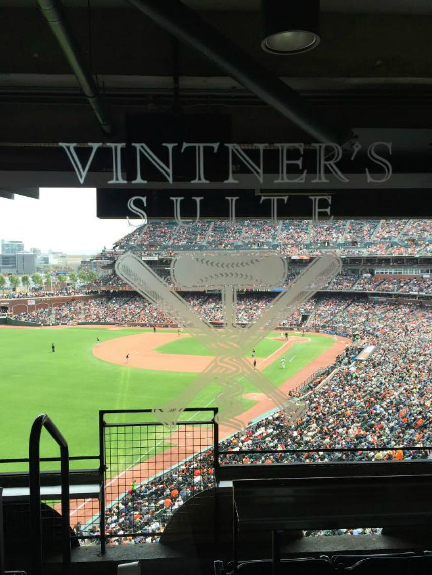 Wine Club tasting at The  San Francisco Giants Vintner's Suite