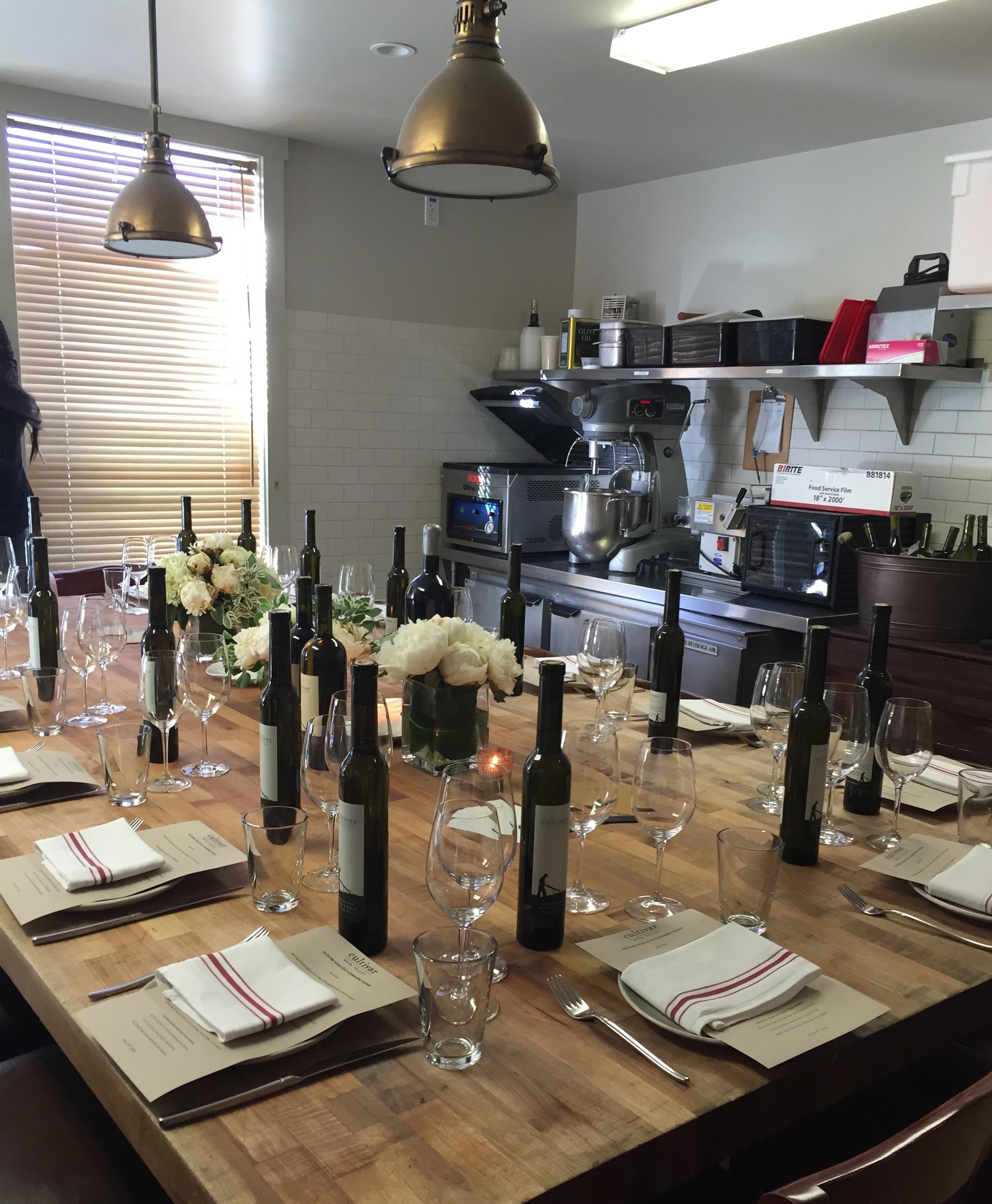 Winemaker dinner in the  flour + water  dough room