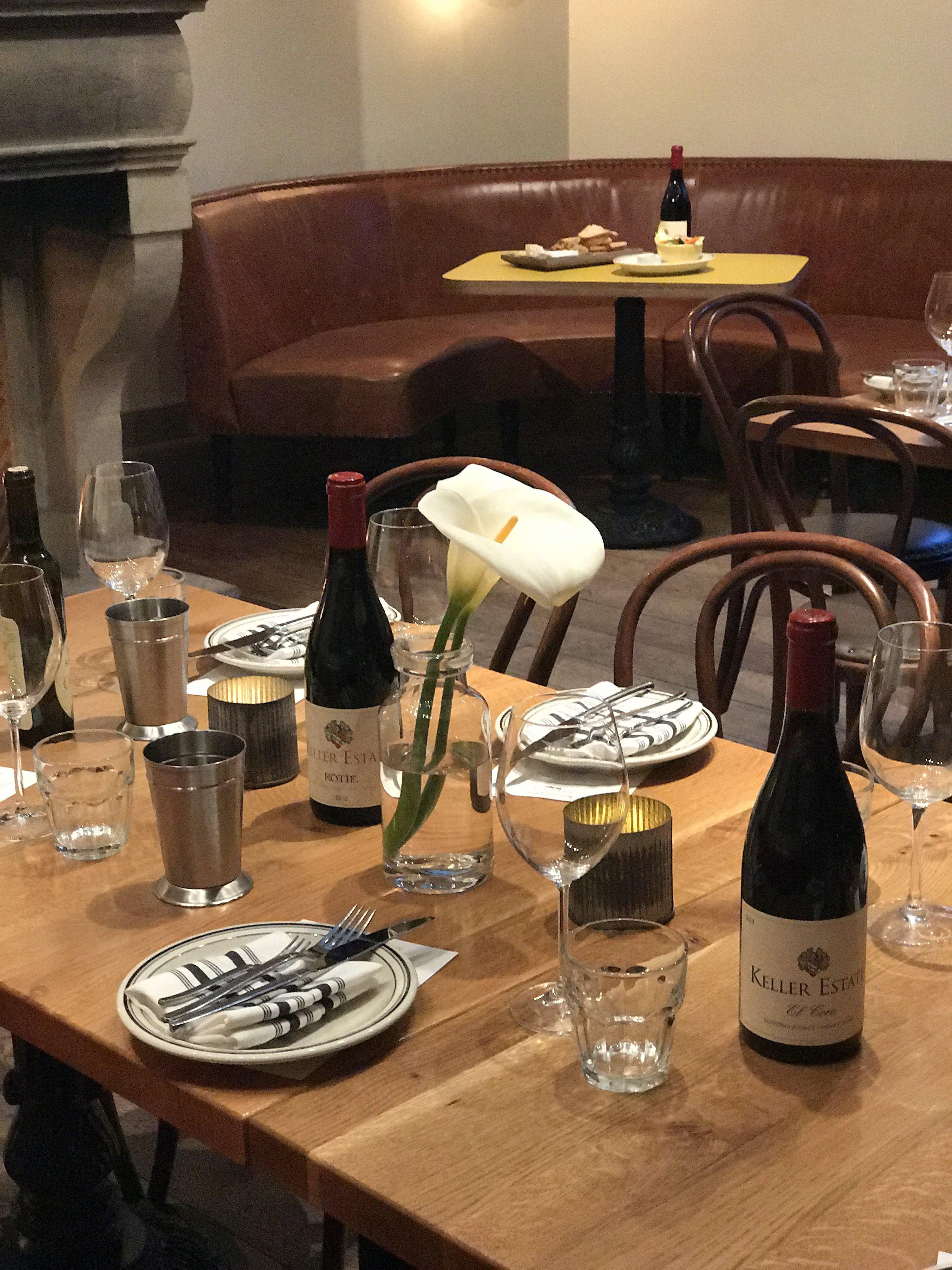 Winemaker dinner with Keller Estates at Belga, San Francisco