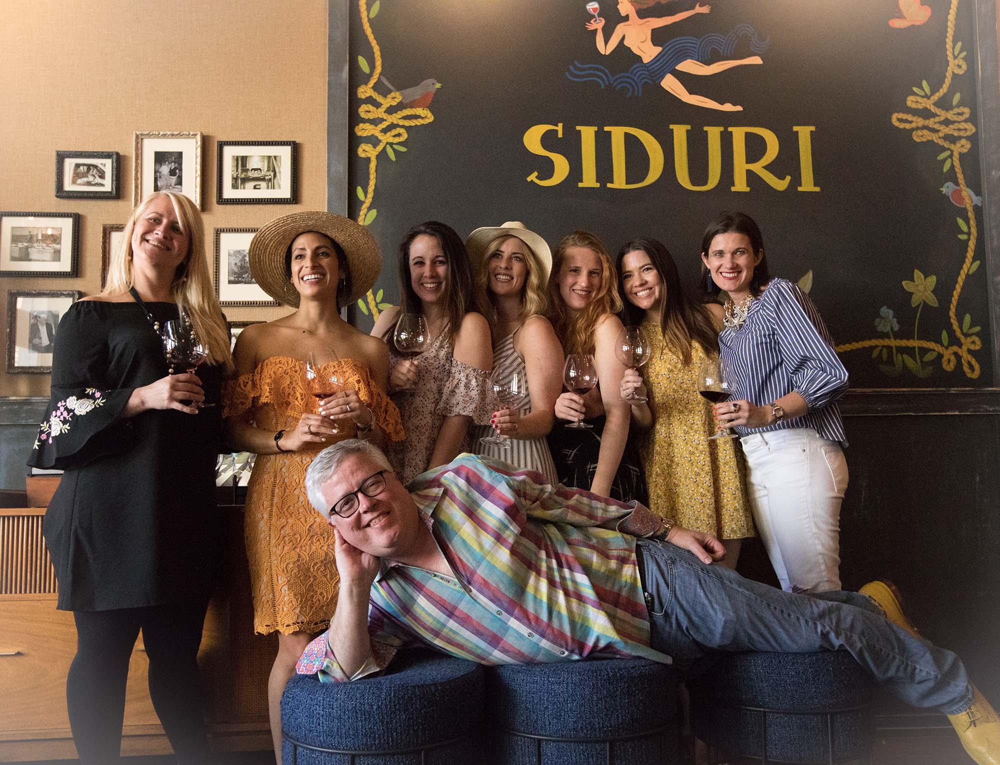 Food & Wine pairing at  The Siduri Wine Bar & Tasting Lounge  led by Siduri Winemaker Adam Lee during a Healdsburg Bloggers weekend