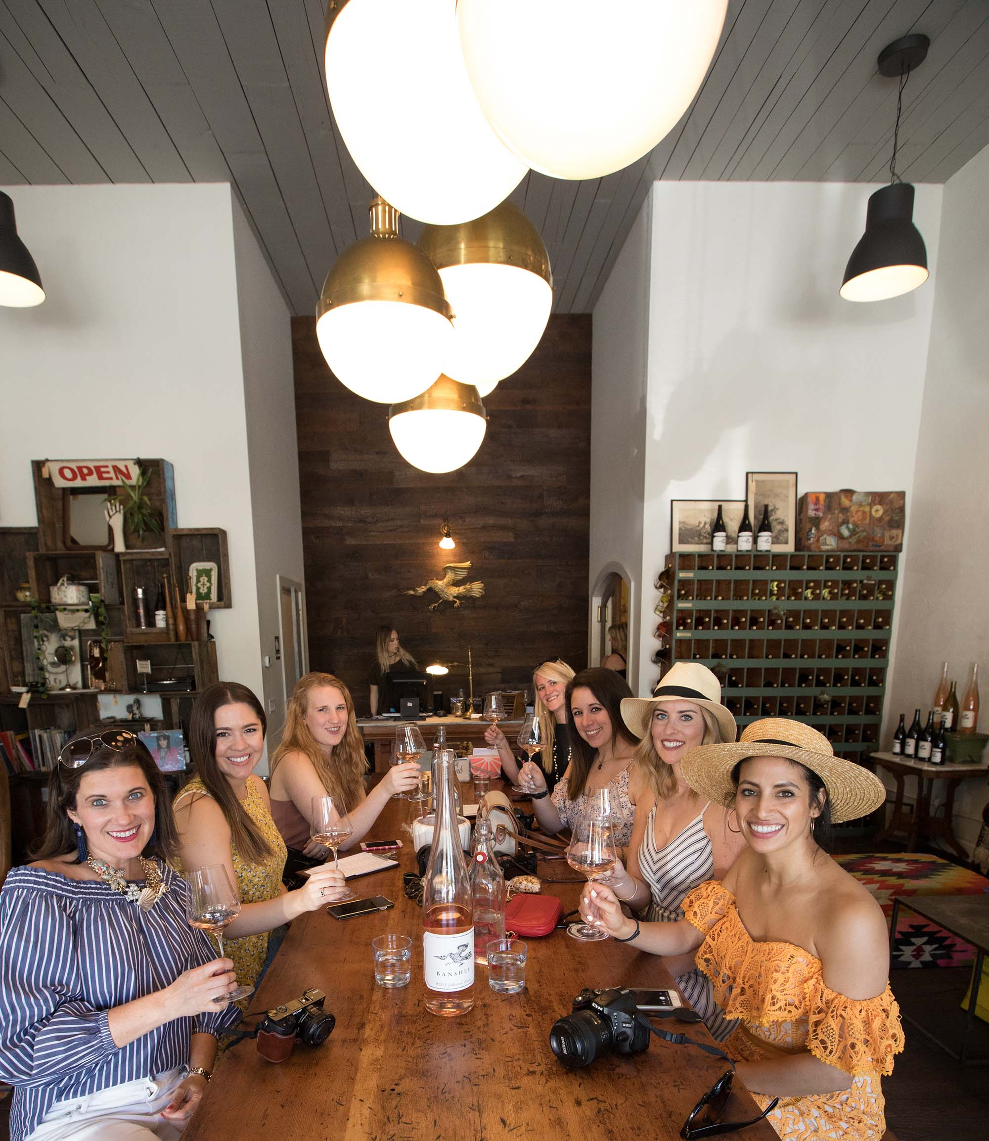 Winetasting at Banshee Wines Tasting room during Healdsburg Bloggers weekend