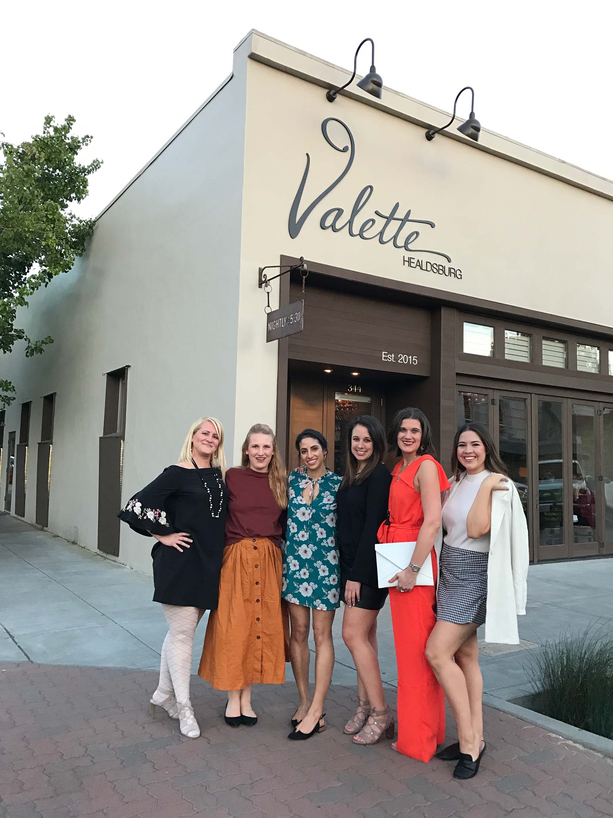 Dinner at  Valette Restaurant  during our Healdsburg Bloggers weekend