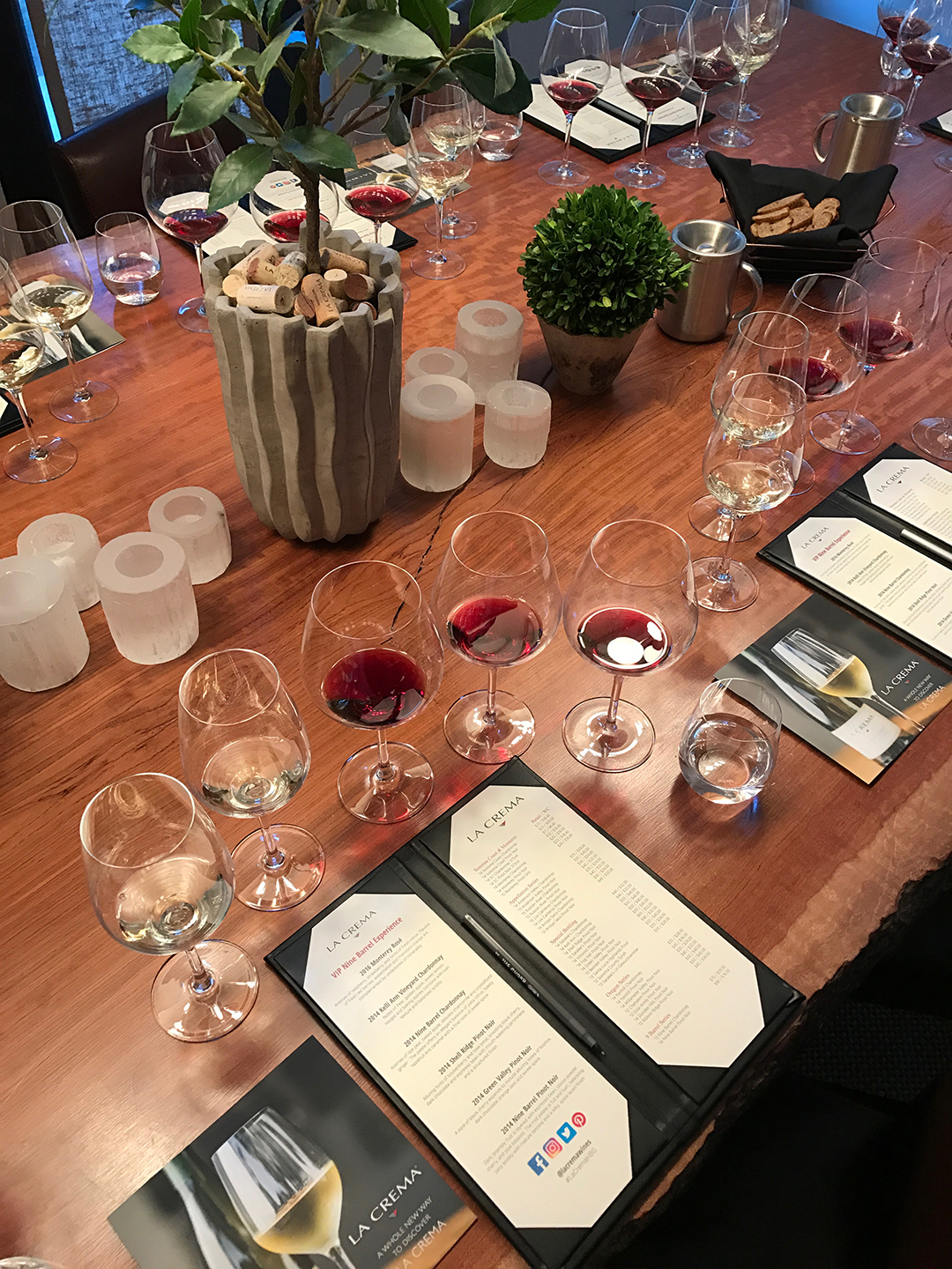 The  La Crema Wines  Nine Barrel wine & food pairing during our Healdsburg bloggers weekend in Wine Country.