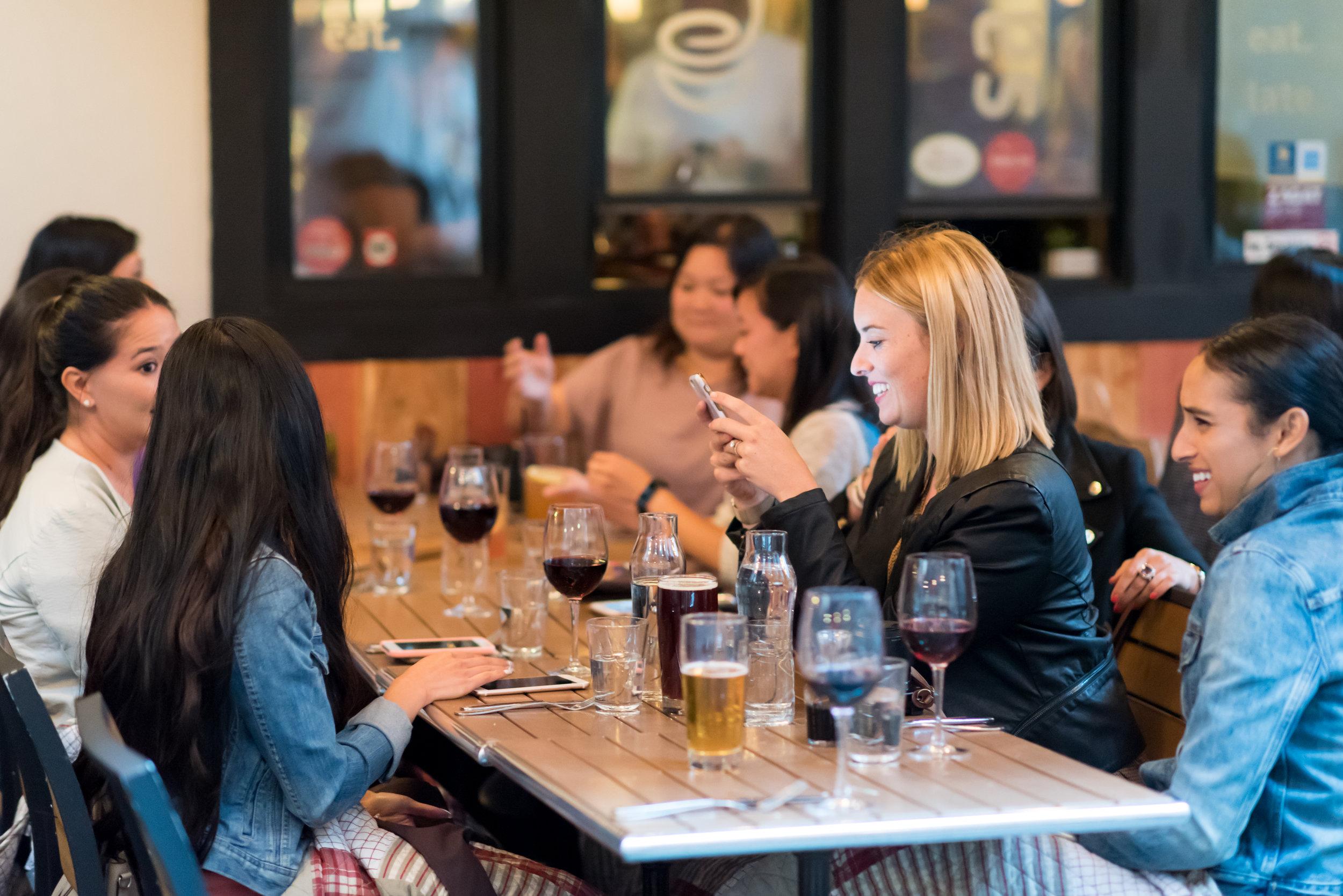 Blogger dinner at Sauce SF Belden Street.
