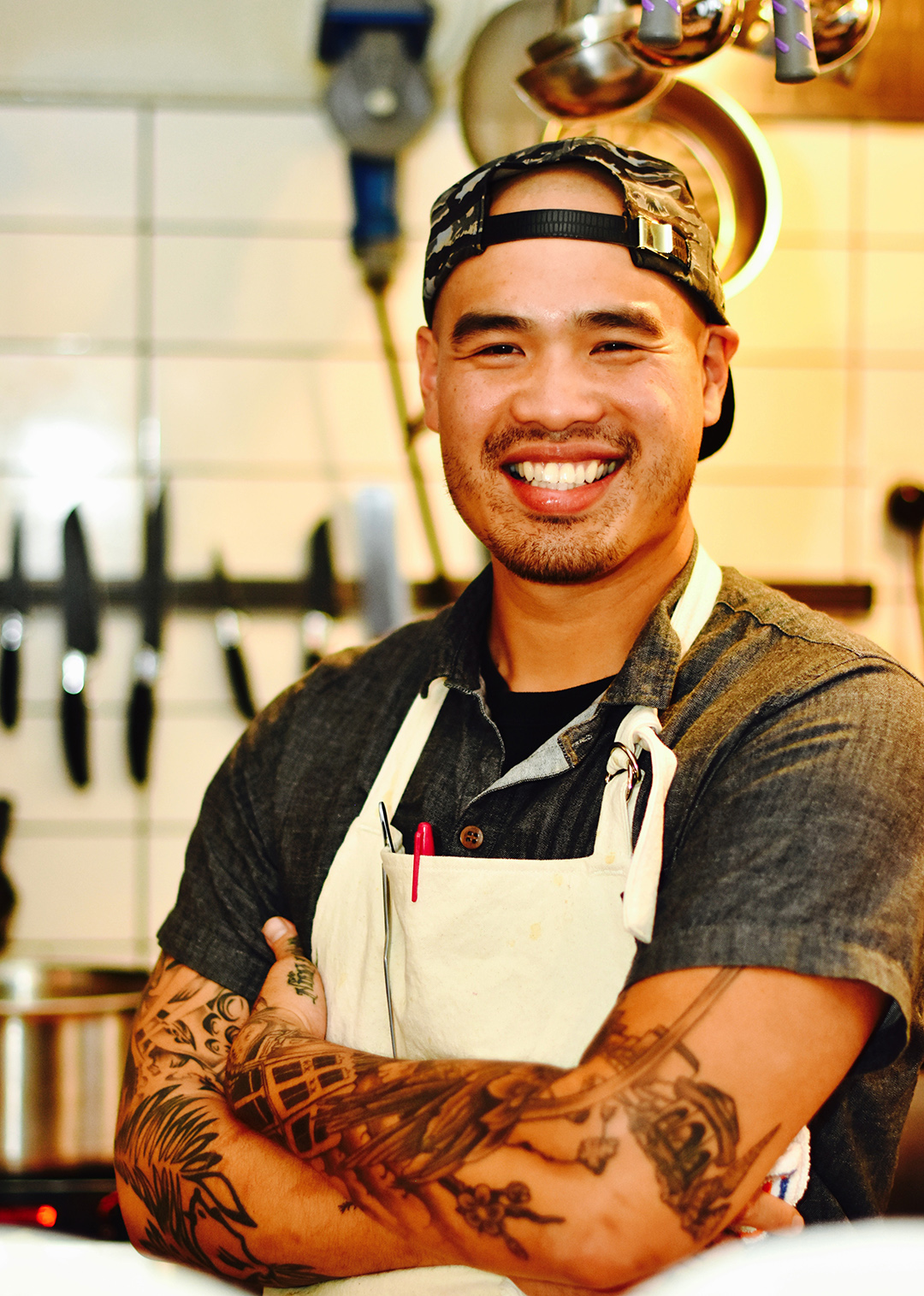 Chef Tu David Phu, and yes he's just as friendly as his huge smile suggests.